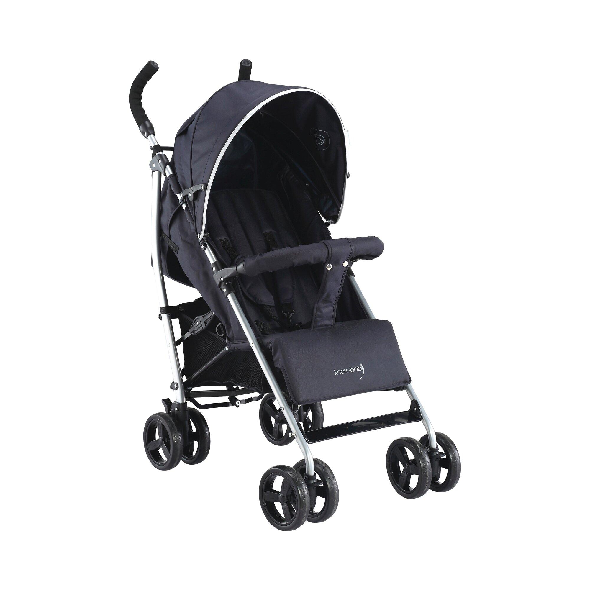 Knorr-Baby Styler Happy Colour Buggy mit Liegefunktion schwarz