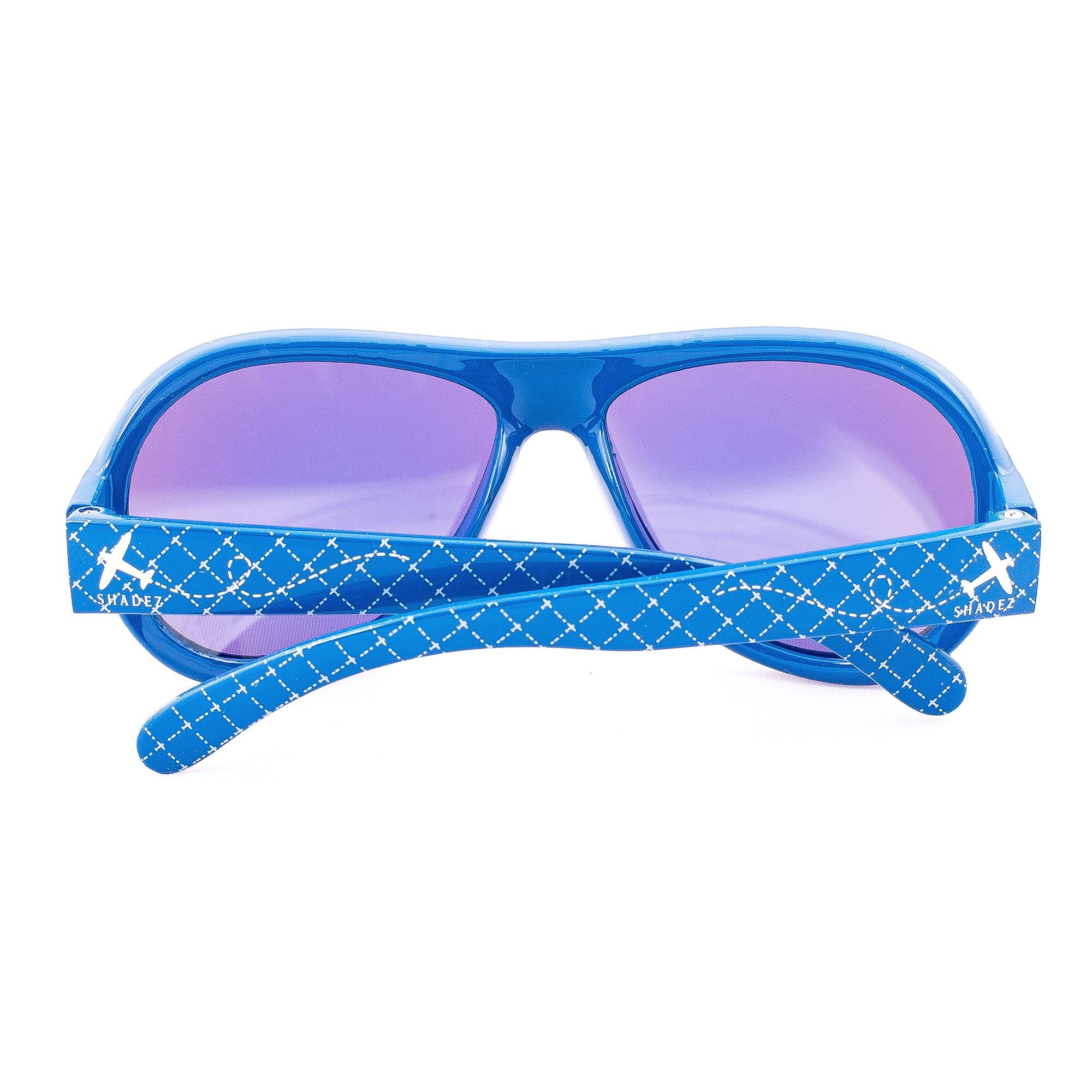 Sonnenbrille Flugzeug blau