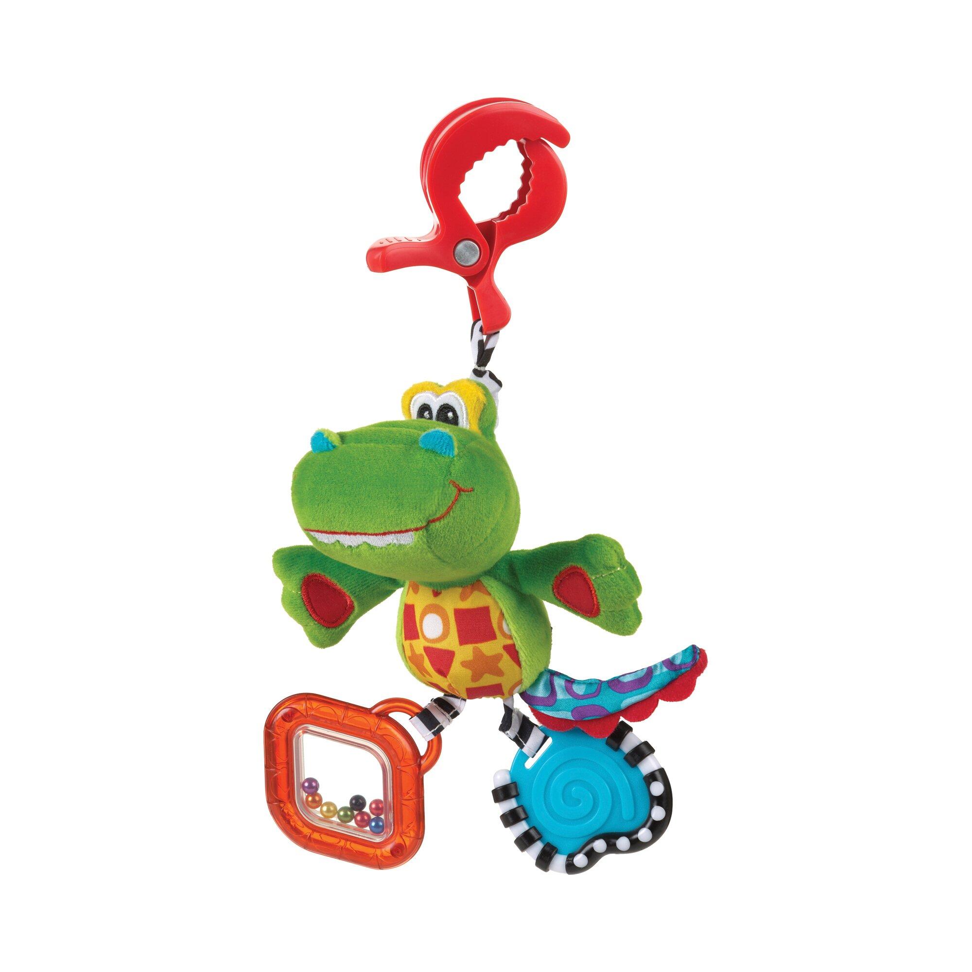 Playgro Kinderwagenkette Snappy das Krokodil gruen