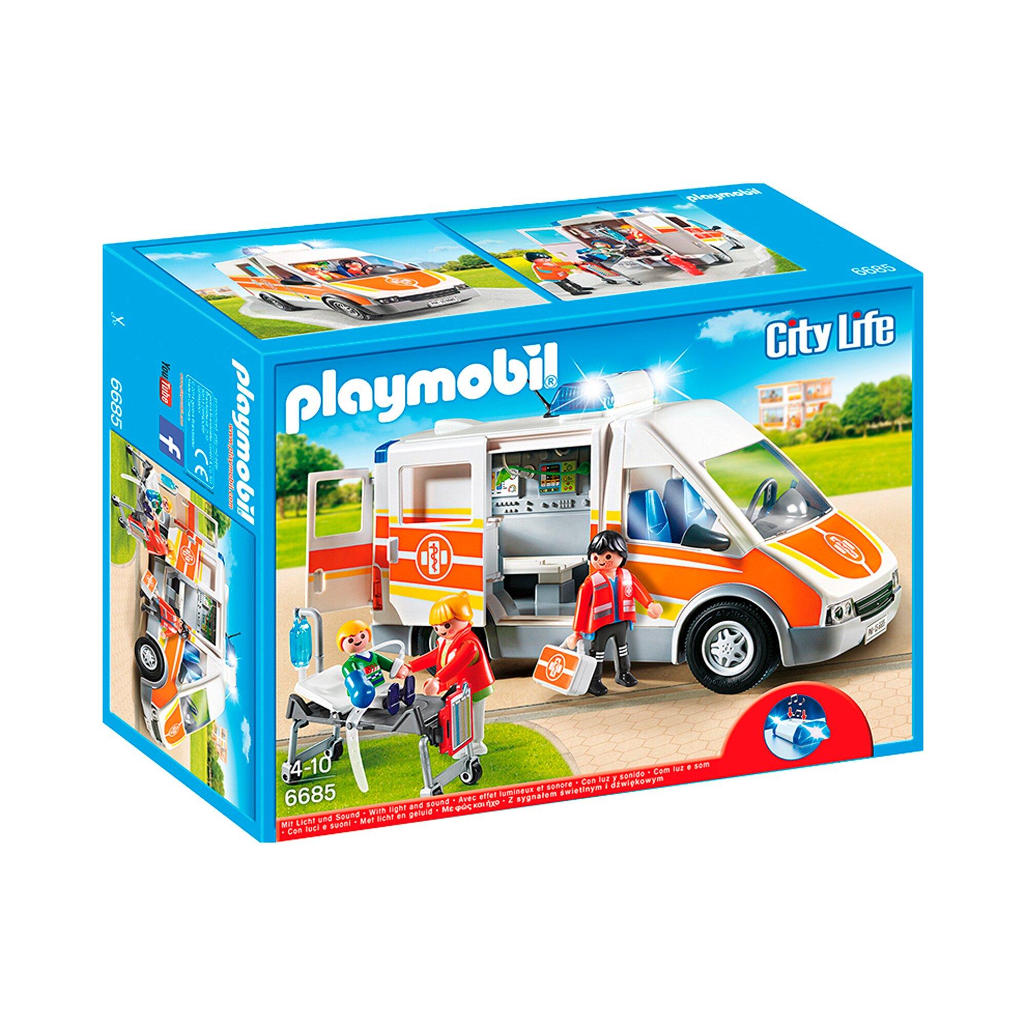 City Elsässer Licht Und Wohndesign: Playmobil City Life Krankenwagen Mit Licht Und Sound 6685