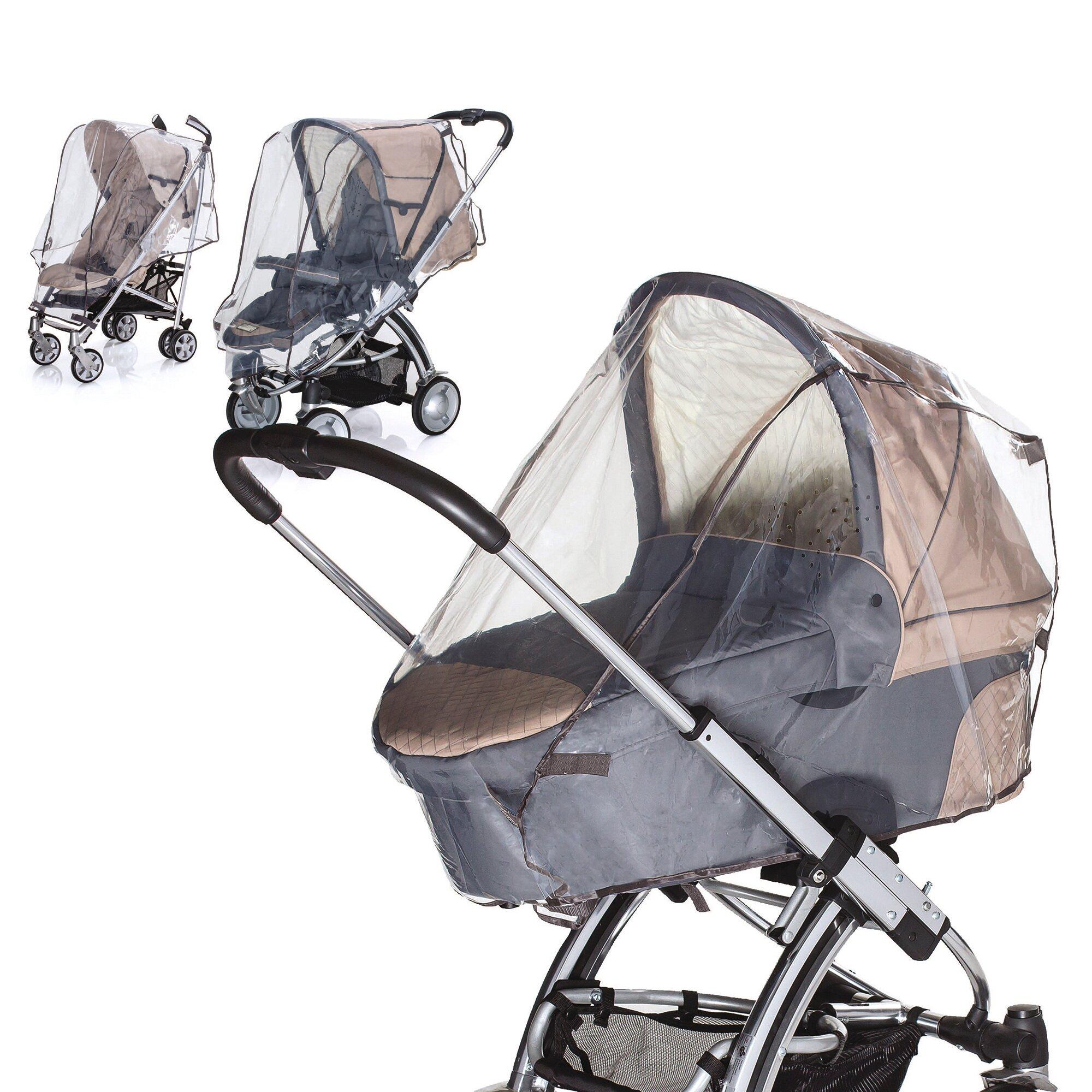 Diago Universal Regenschutz für Kinderwagen, Kinderwagen Jogger, Kinderwagen Sportwagen, Buggy transparent