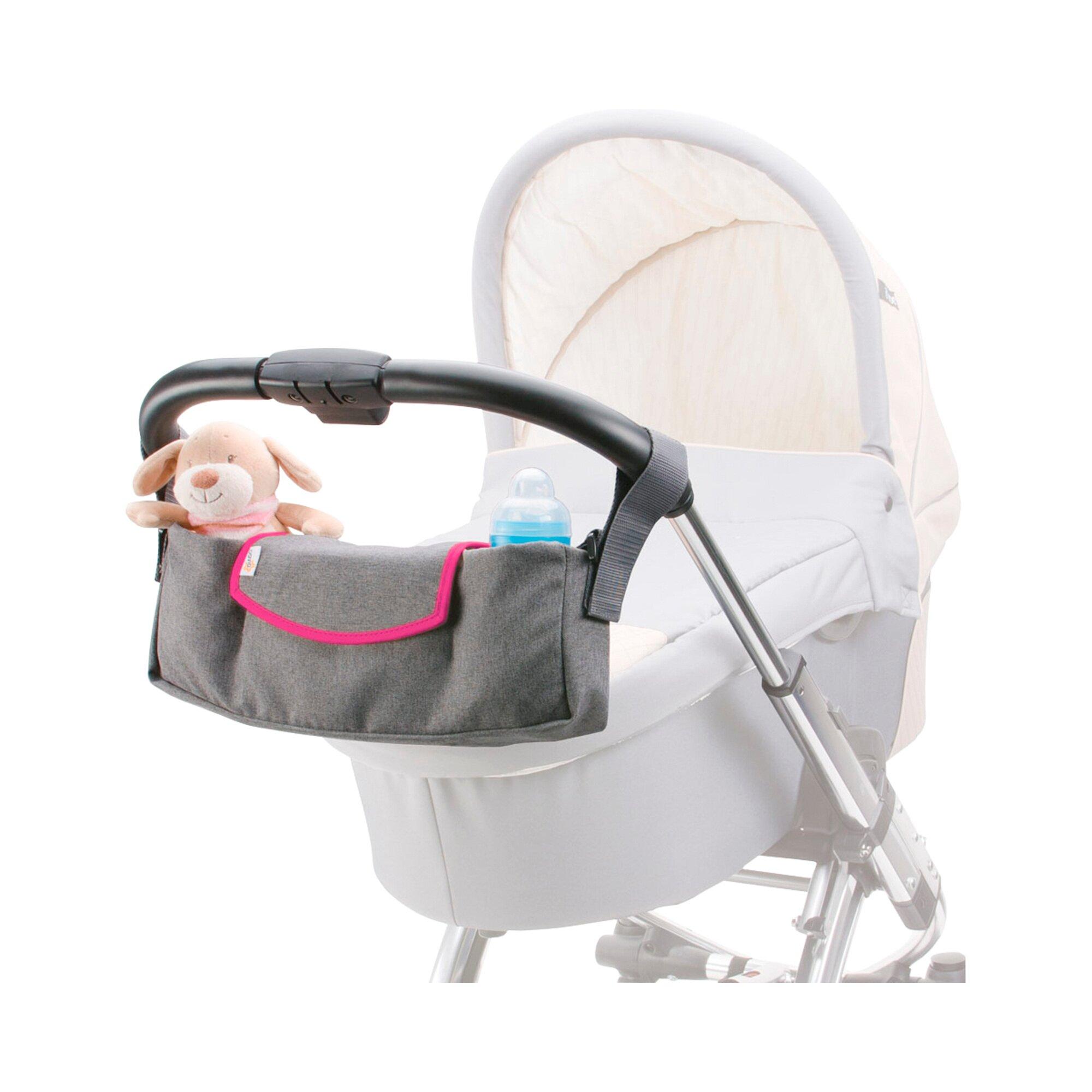 Diago Universal Organizer für Kinderwagen, Buggy pink