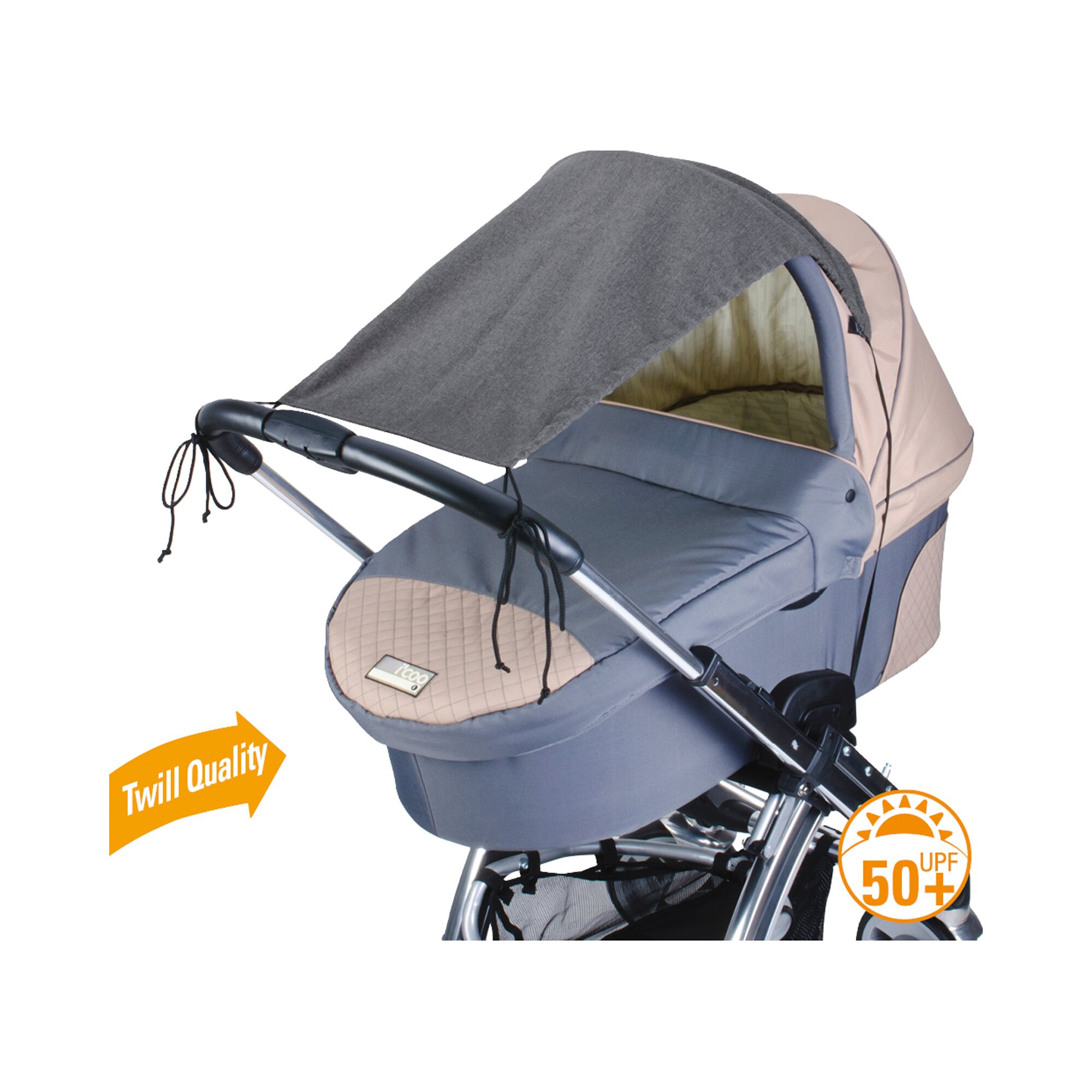 Diago Sonnensegel Deluxe mit UV-Schutz grau