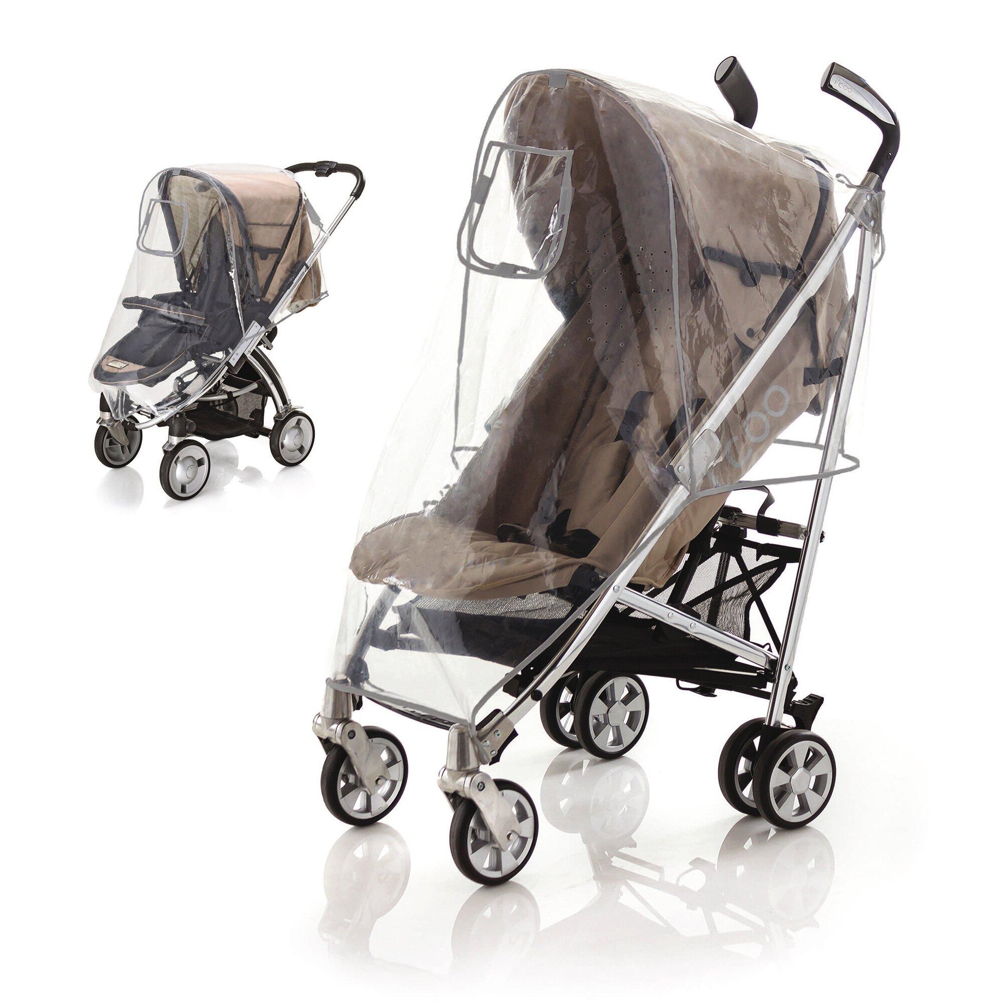 Diago Universal Regenschutz für Kinderwagen Sportwagen, Buggy transparent