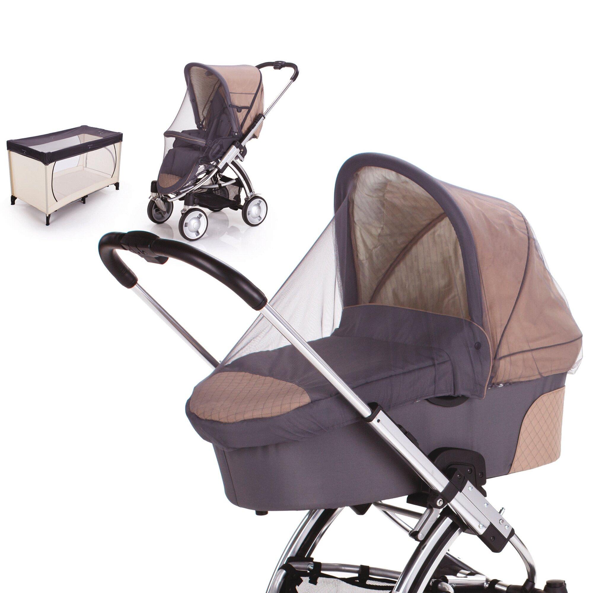 Diago Universal-Insektenschutz für Kinderwagen und Reisebetten grau