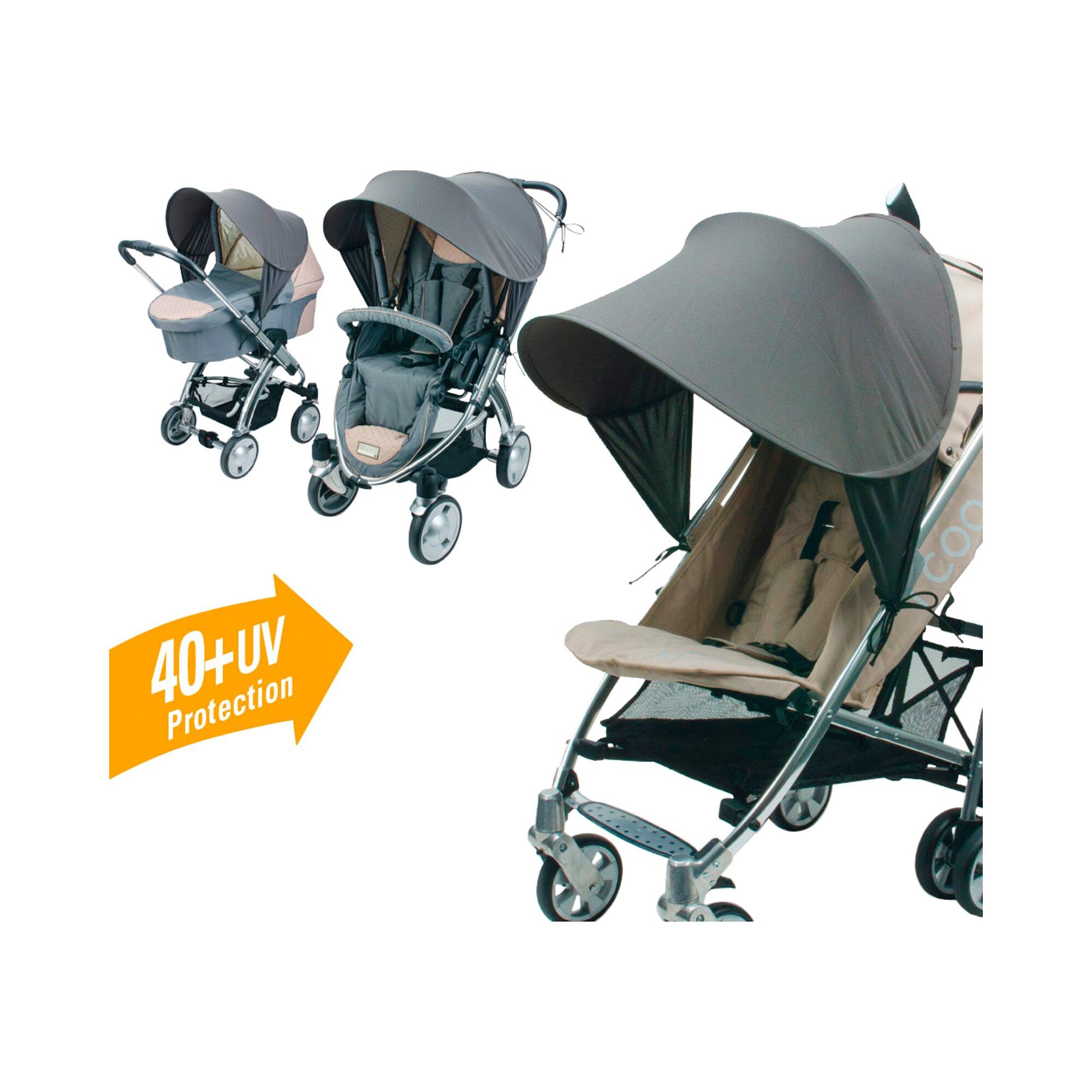 Diago Sonnenverdeck Universal Premium für Kinderwagen grau