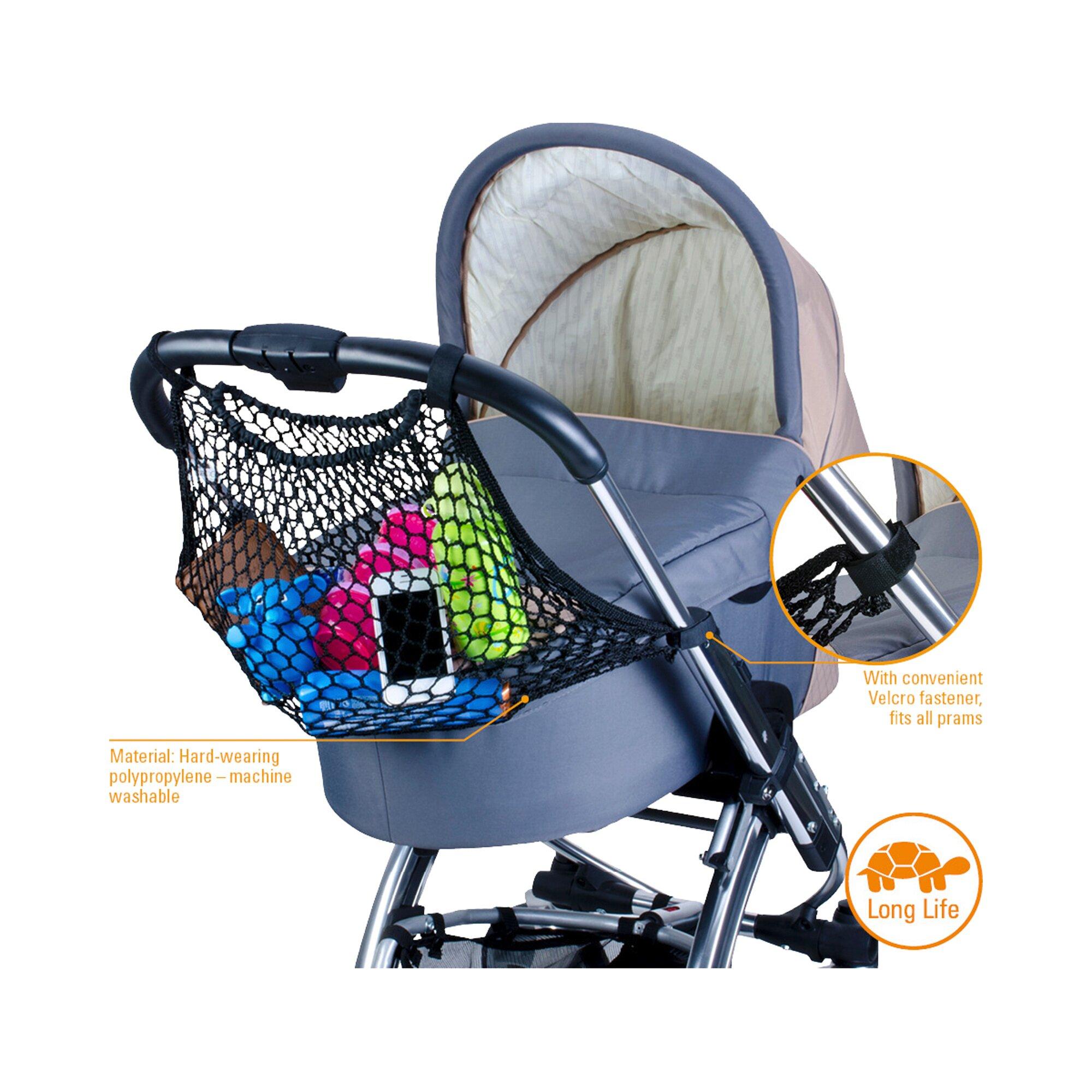 Diago Einkaufsnetz für Kinderwagen und Buggy schwarz