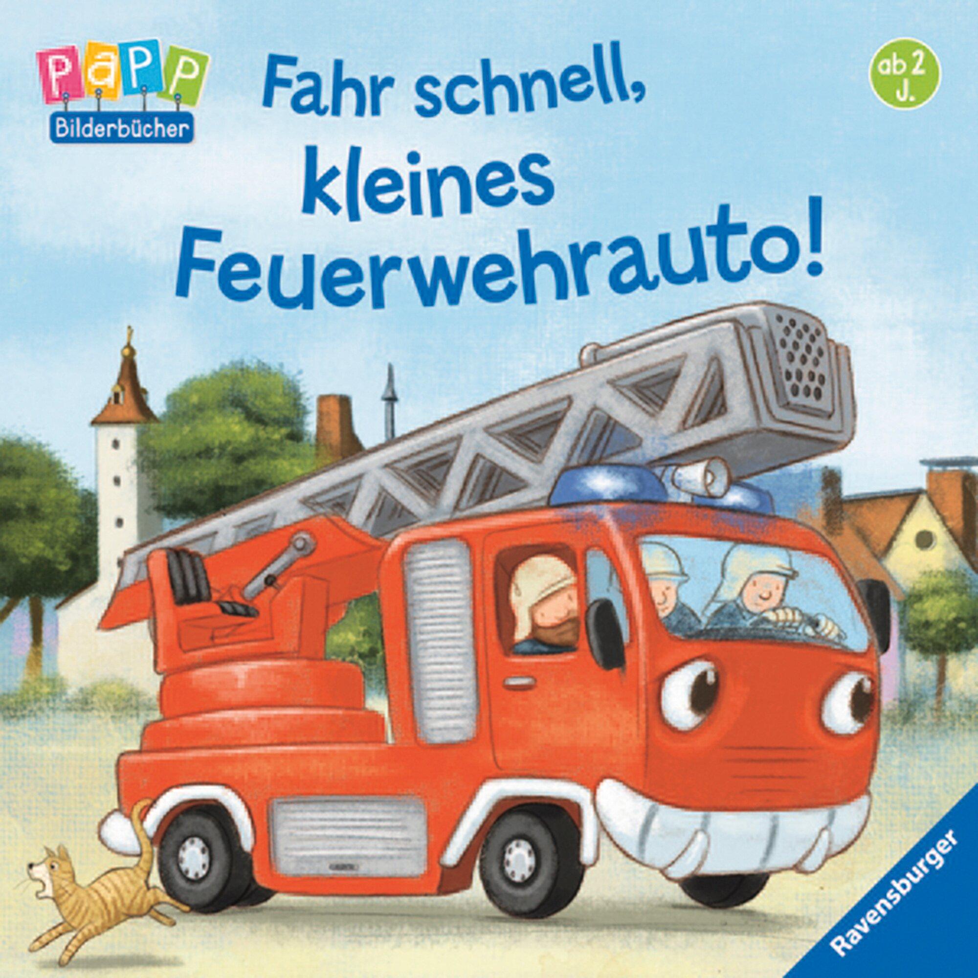 Ravensburger Pappbilderbuch-Fahr schnell, kleines Feuerwehrauto