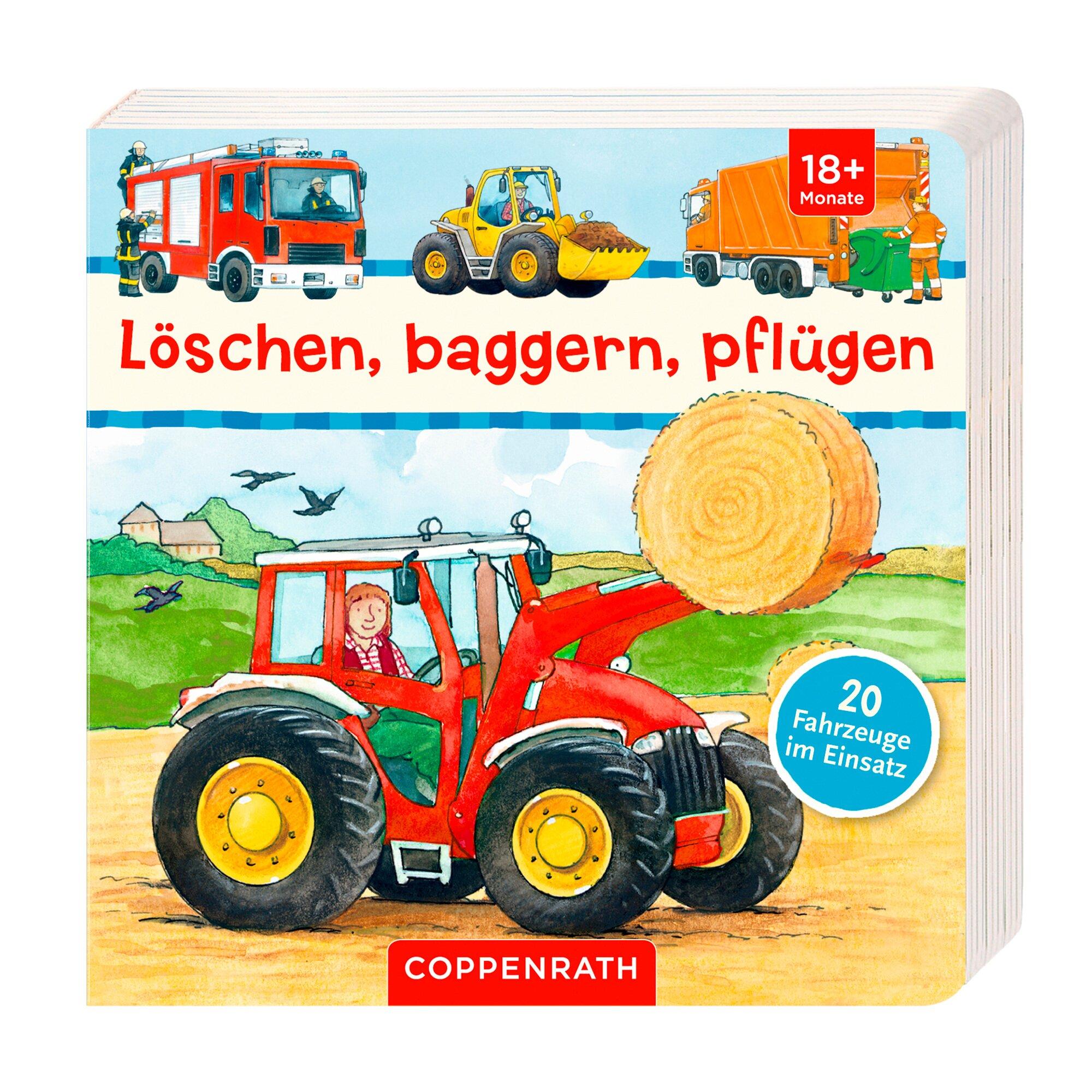 Coppenrath Die Spiegelburg Pappbilderbuch Löschen, baggern, pflügen