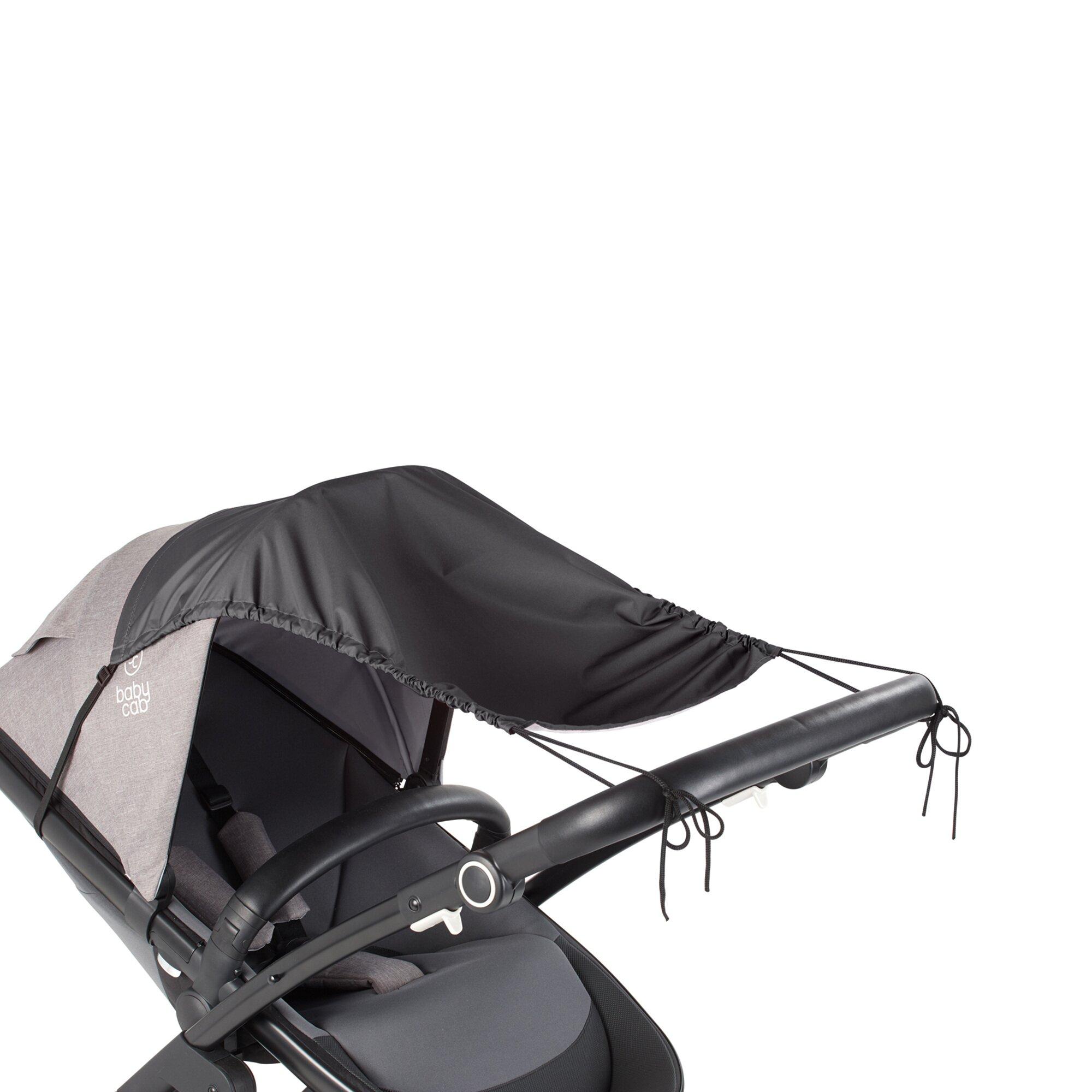 Babycab Sonnensegel mit UV-Schutz 50+ grau