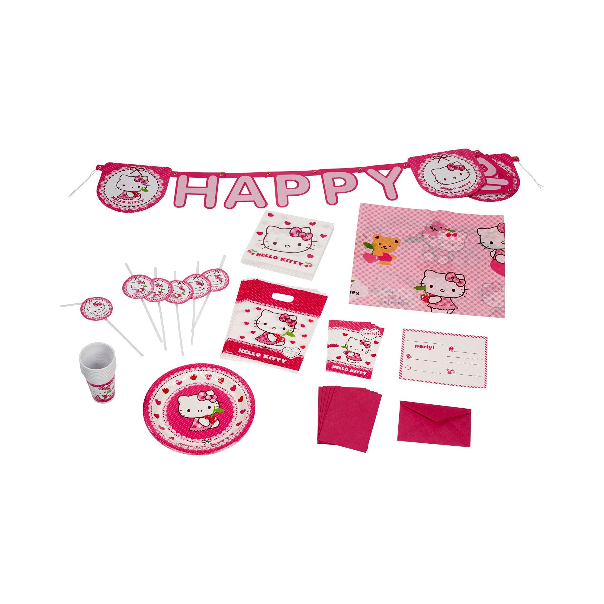 56-tlg. Partyset Hello Kitty, 6 Personen