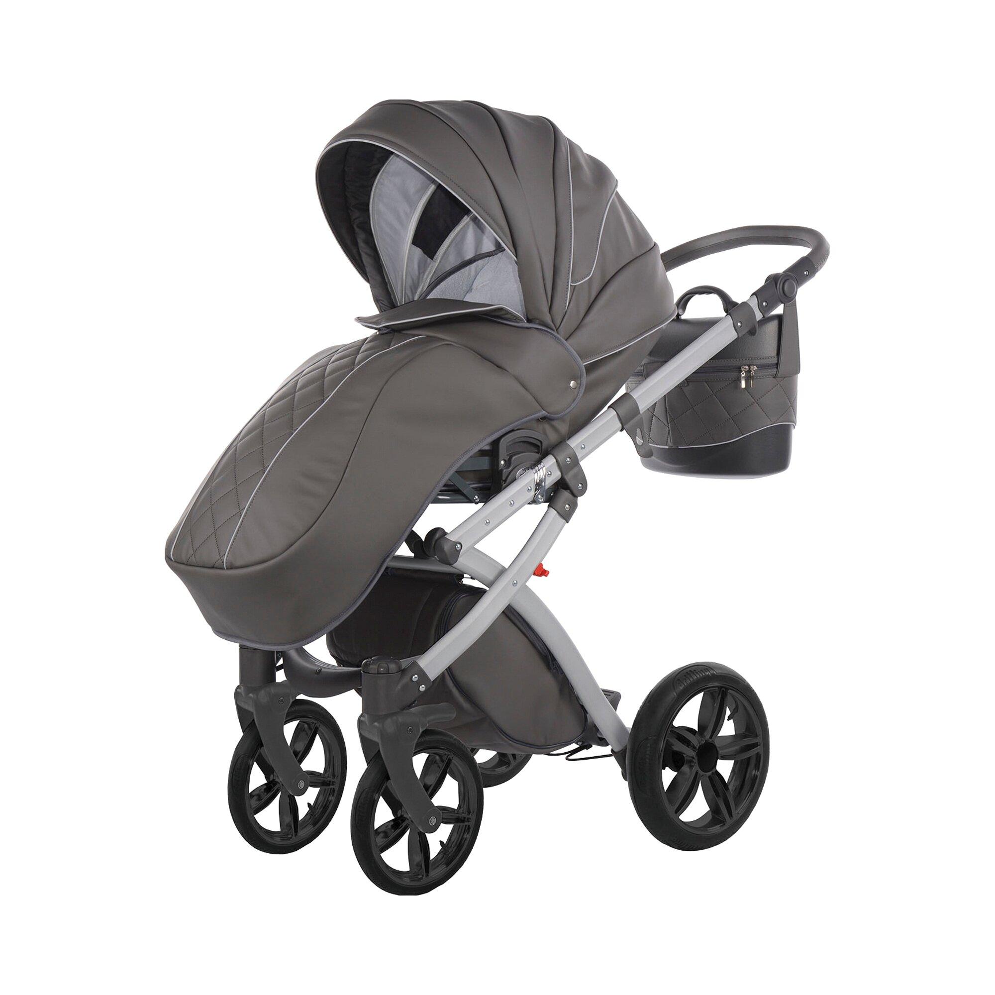 knorr-baby-alive-eco-pure-kombikinderwagen-mit-wickeltasche-grau