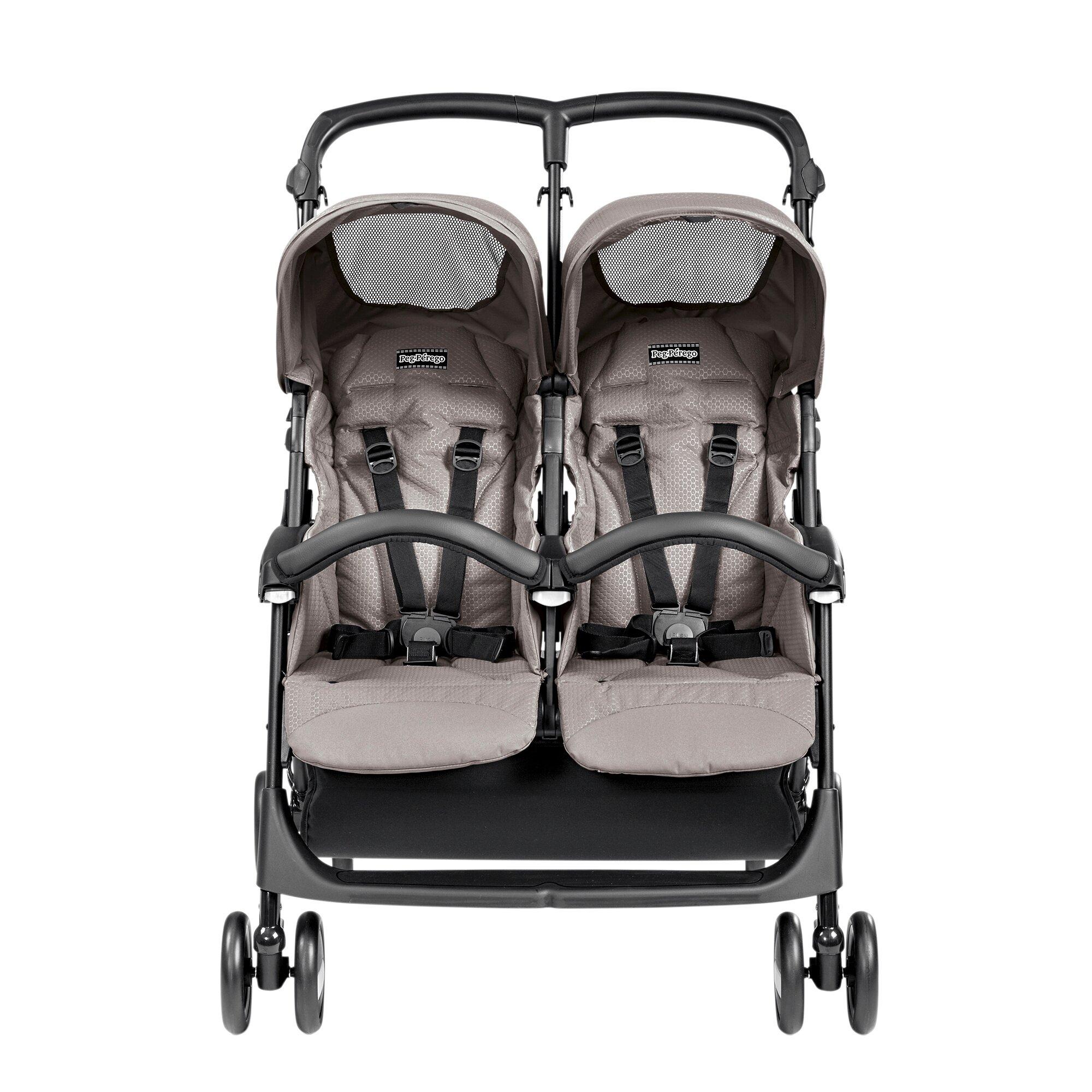 peg-perego-aria-shopper-twin-kinderwagen-zwillingswagen-design-2016-beige, 311.99 EUR @ babywalz-de