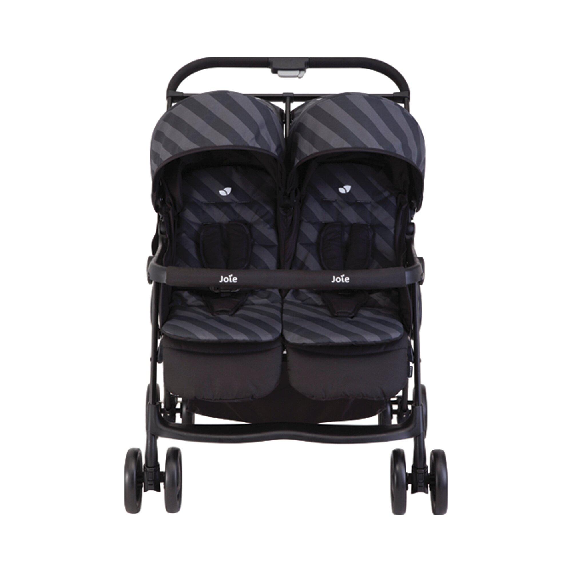 joie-aire-twin-kinderwagen-zwillingswagen-design-2016-schwarz, 158.99 EUR @ babywalz-de