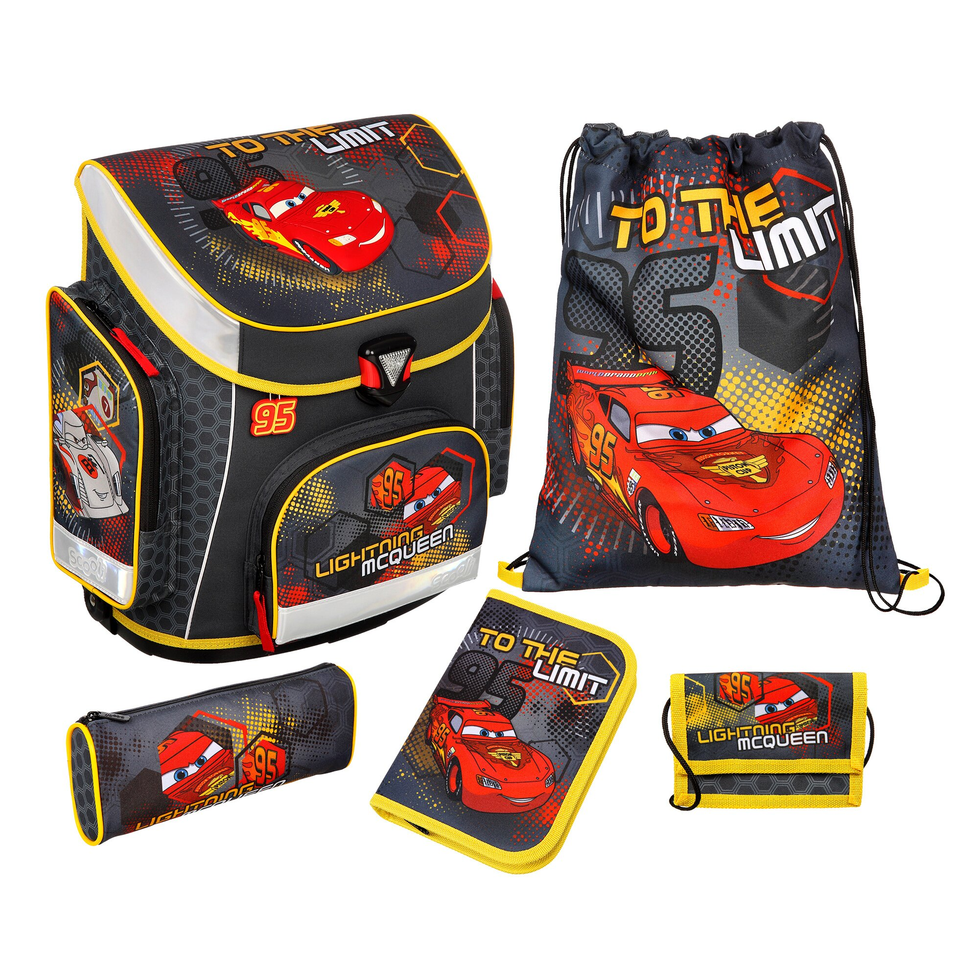 SCOOLI Disney Cars Schulranzenset Campus Plus
