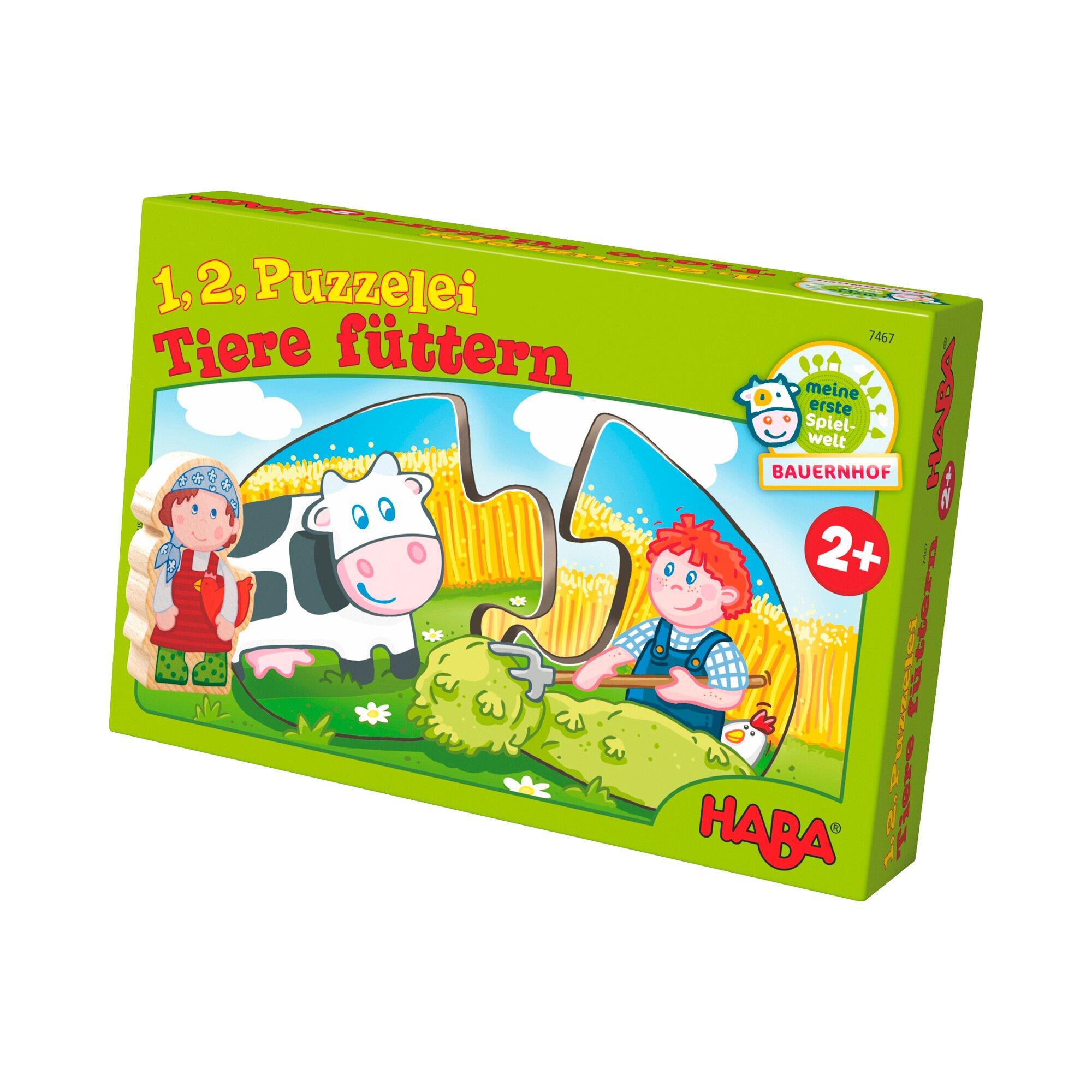 1, 2, Puzzelei Tiere füttern (7467)