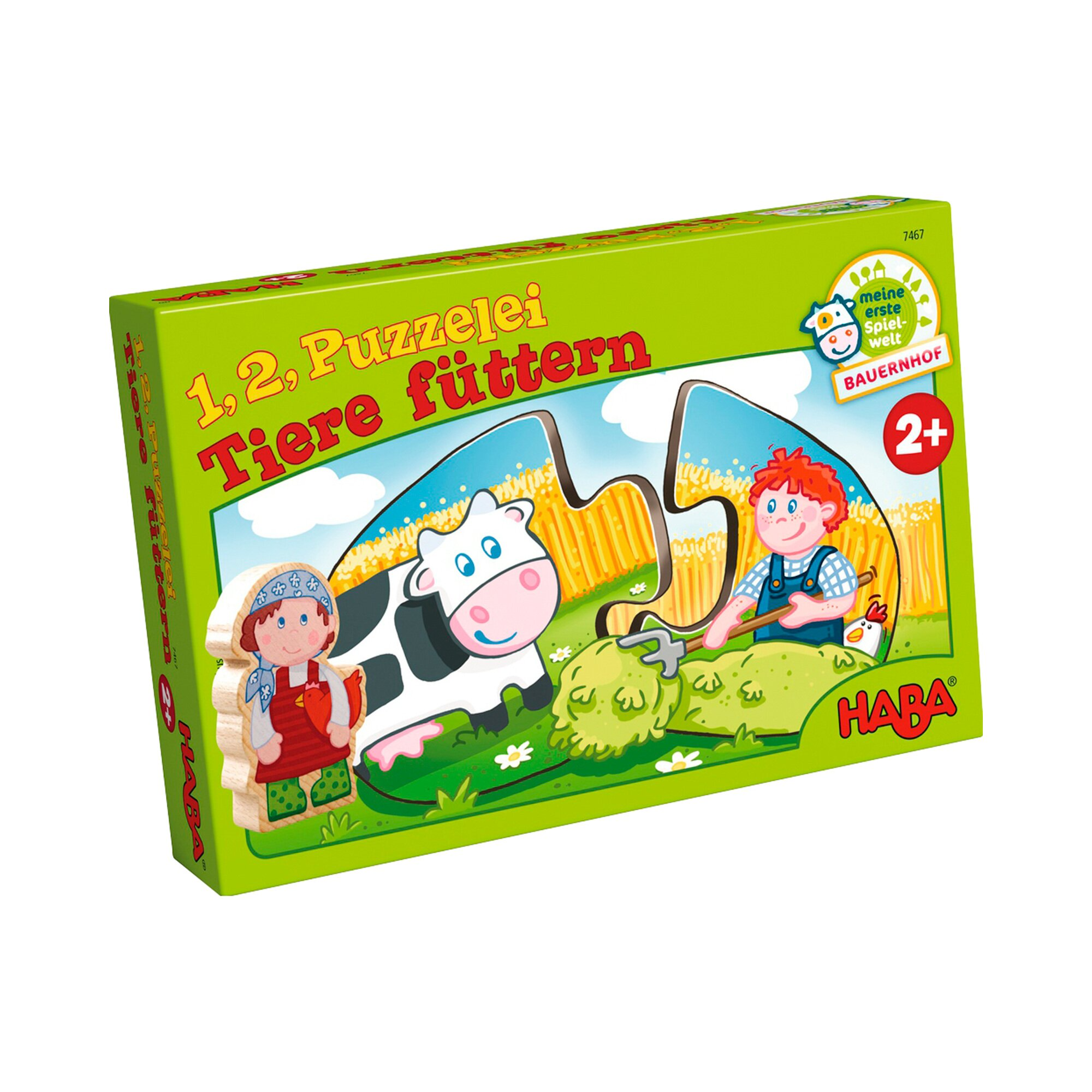 Haba Puzzle - 1, 2, Puzzelei Tiere füttern