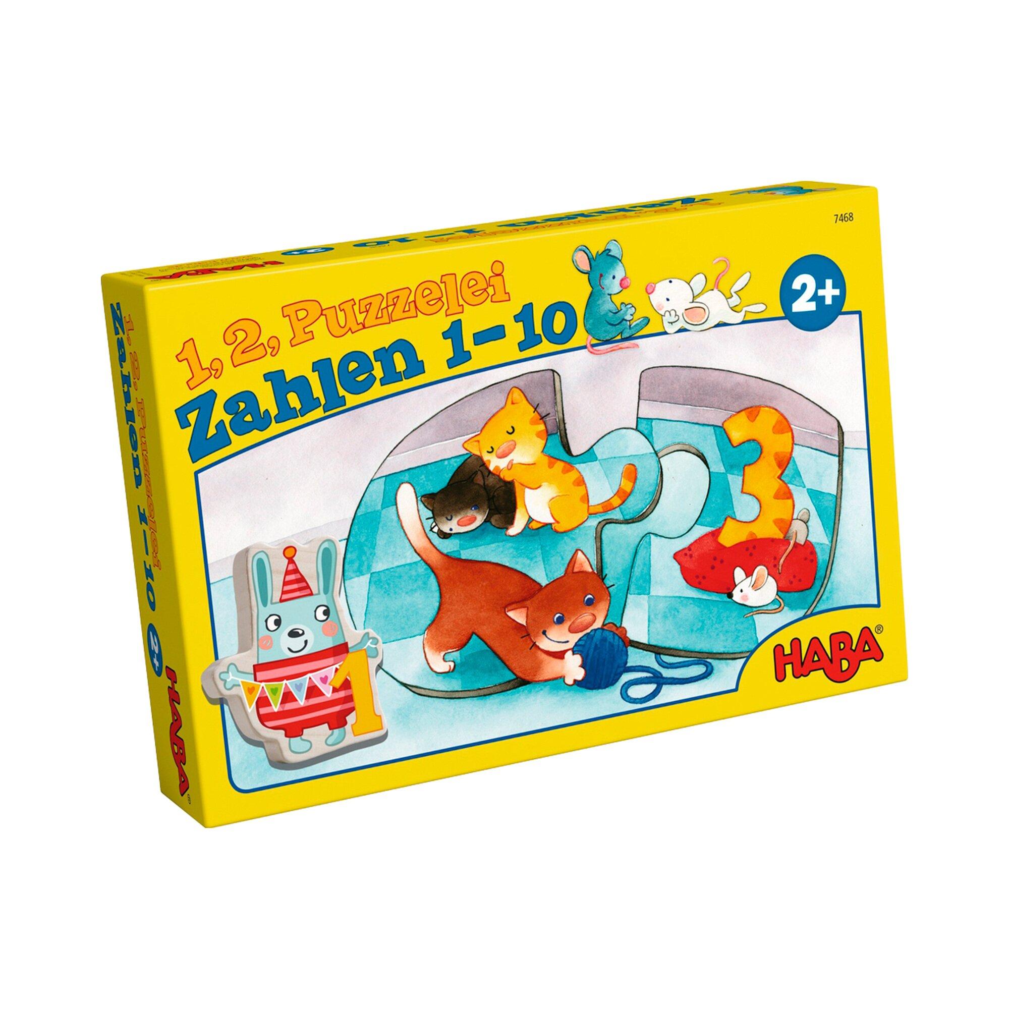 Haba Puzzle - 1, 2, Puzzelei Zahlen 1-10