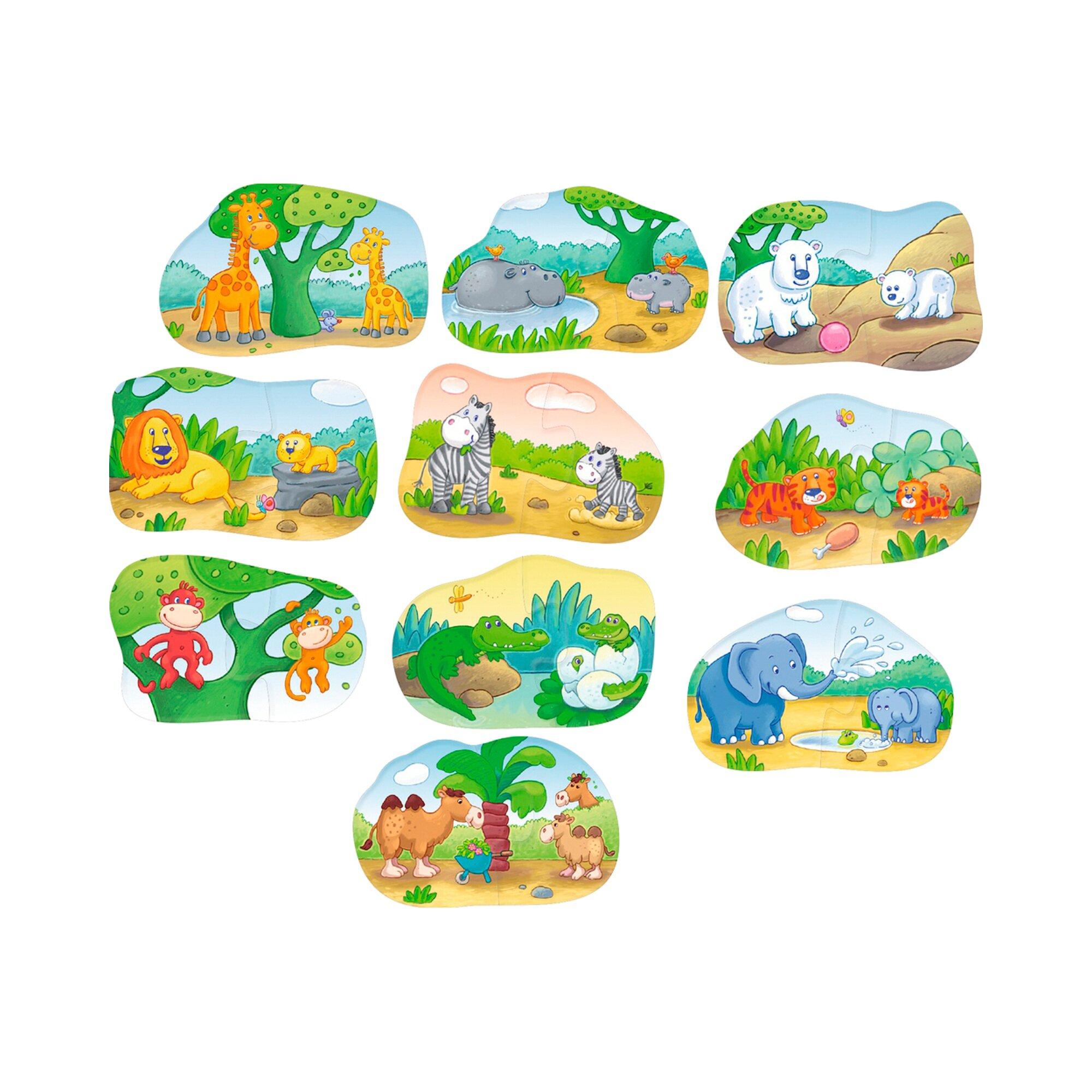 haba-1-2-puzzelei-tierkinder, 9.99 EUR @ babywalz-de
