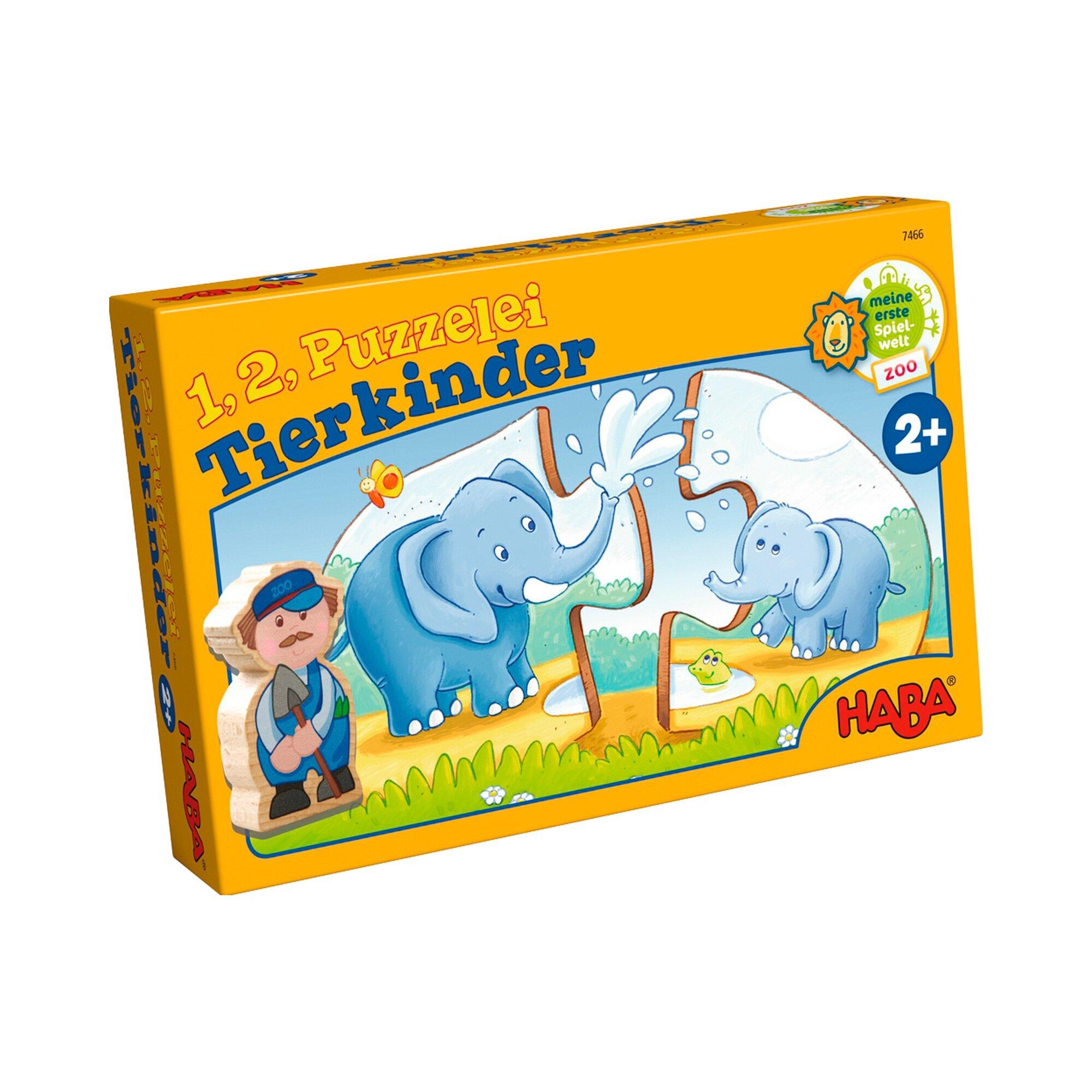 Haba Puzzle - 1, 2, Puzzelei Tierkinder