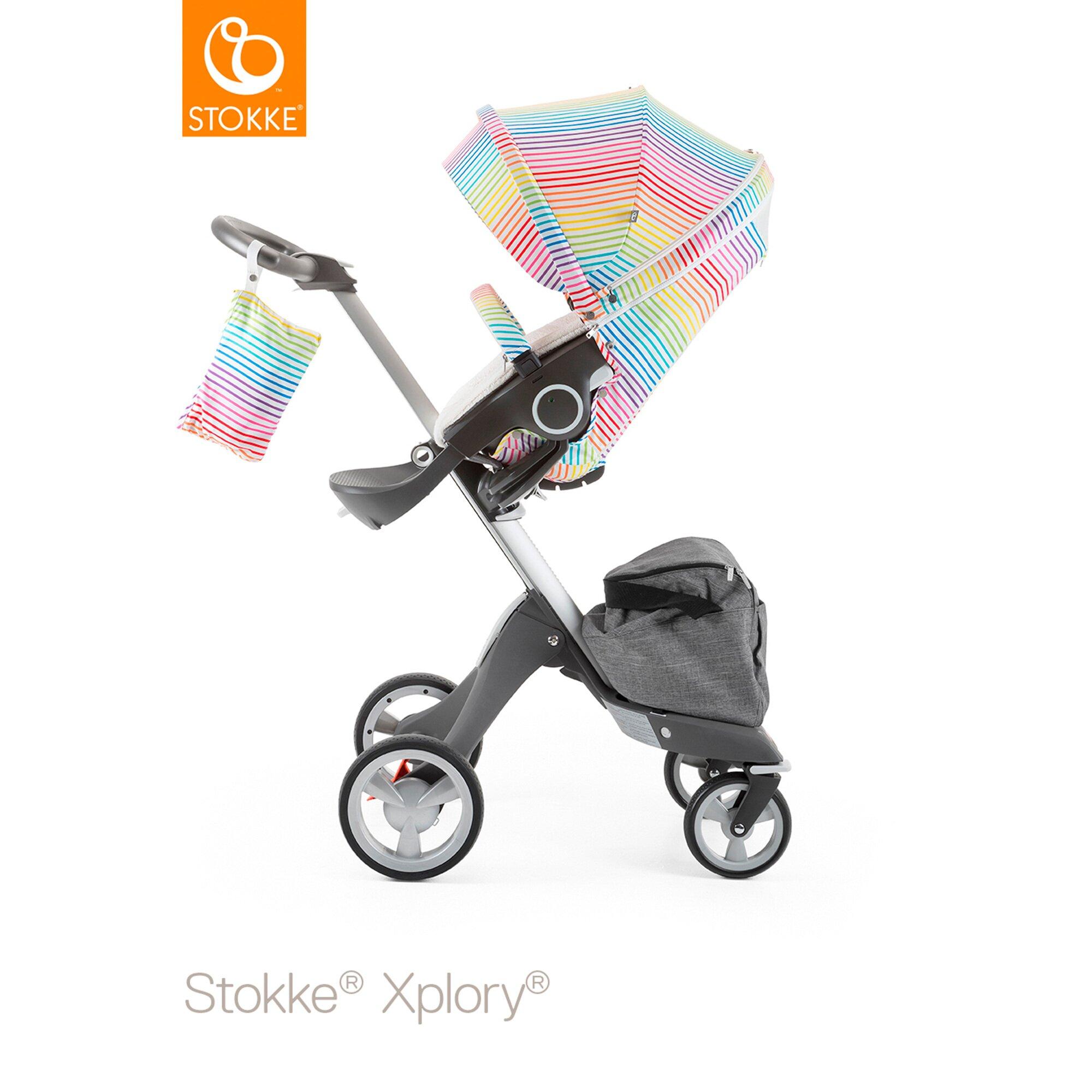 stokke-summer-kit-mit-sonnensegel-sonnenverdeck-sitzabdeckung-und-sicherheitsbugelbezug-fur-xplory-crusi-trailz-mehrfarbig