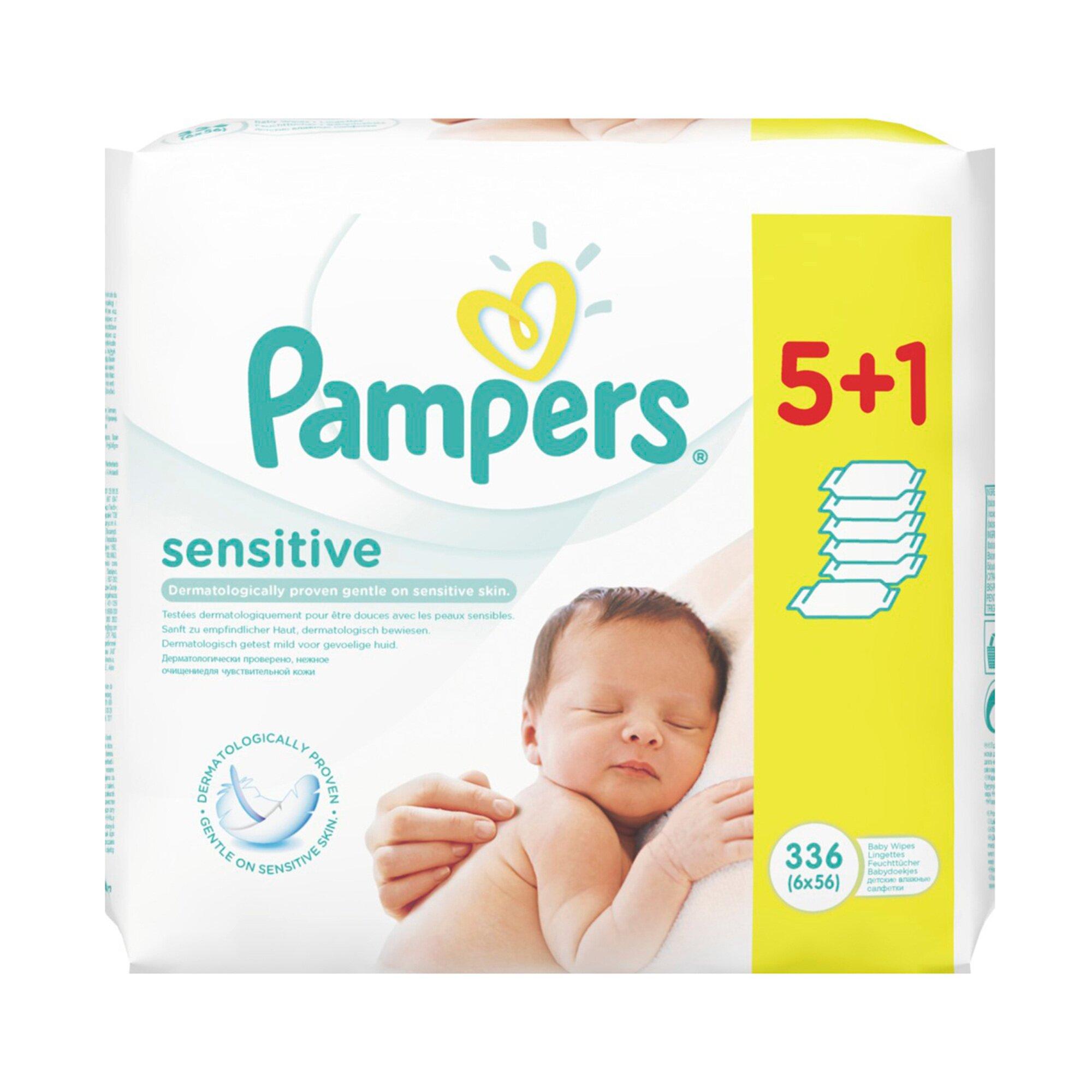 Pampers Feuchttücher Sensitive 6er Pack 336 St.