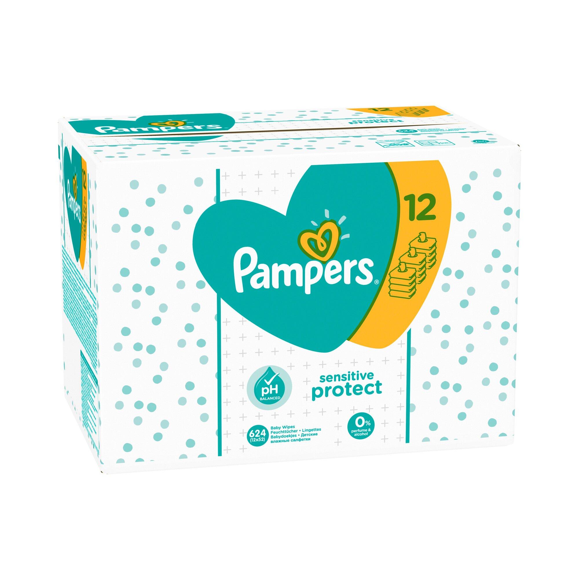 Pampers 12er-Pack Feuchttücher Sensitive, 624 Stück