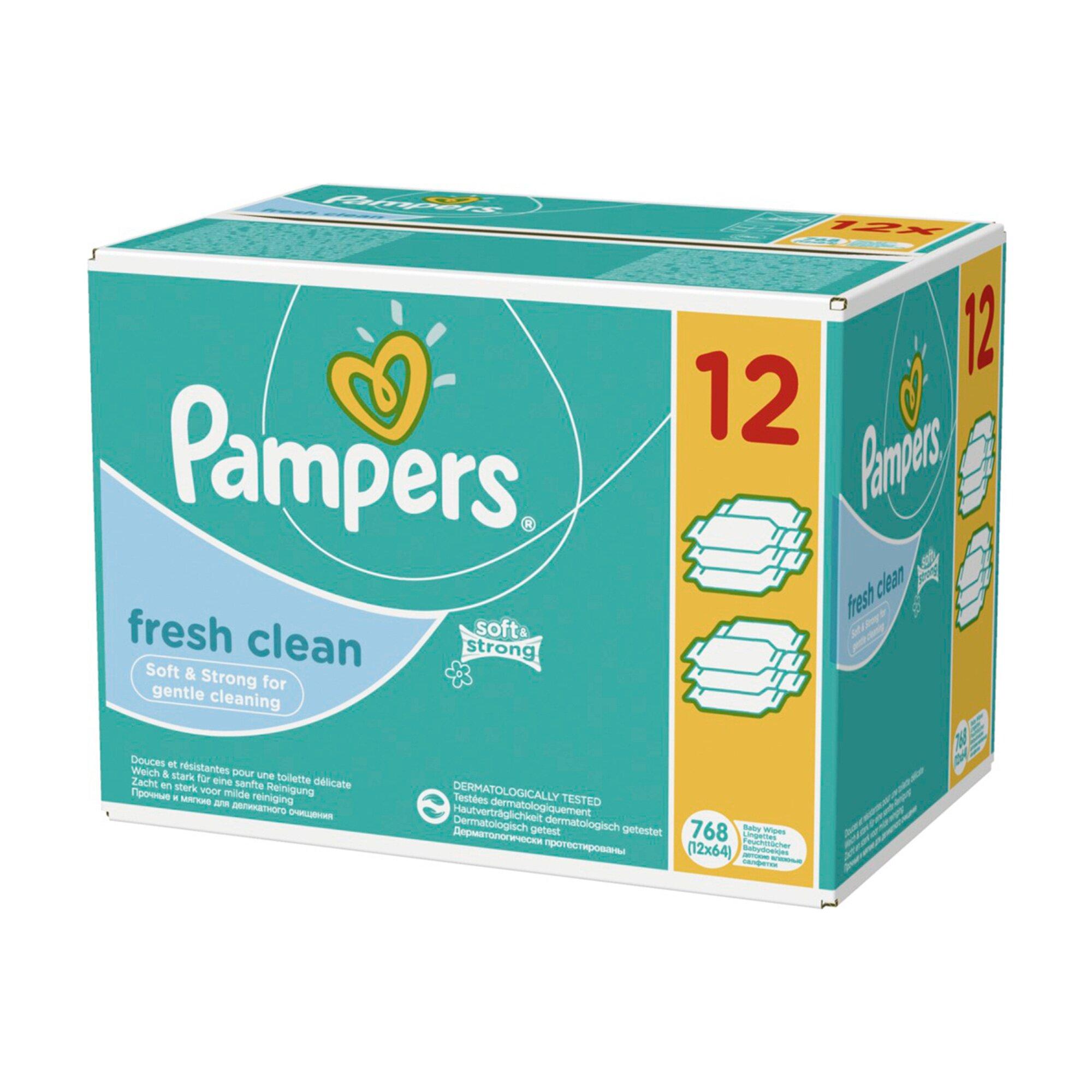 Pampers 12er-Pack Feuchttücher Fresh Clean, 768 Stück
