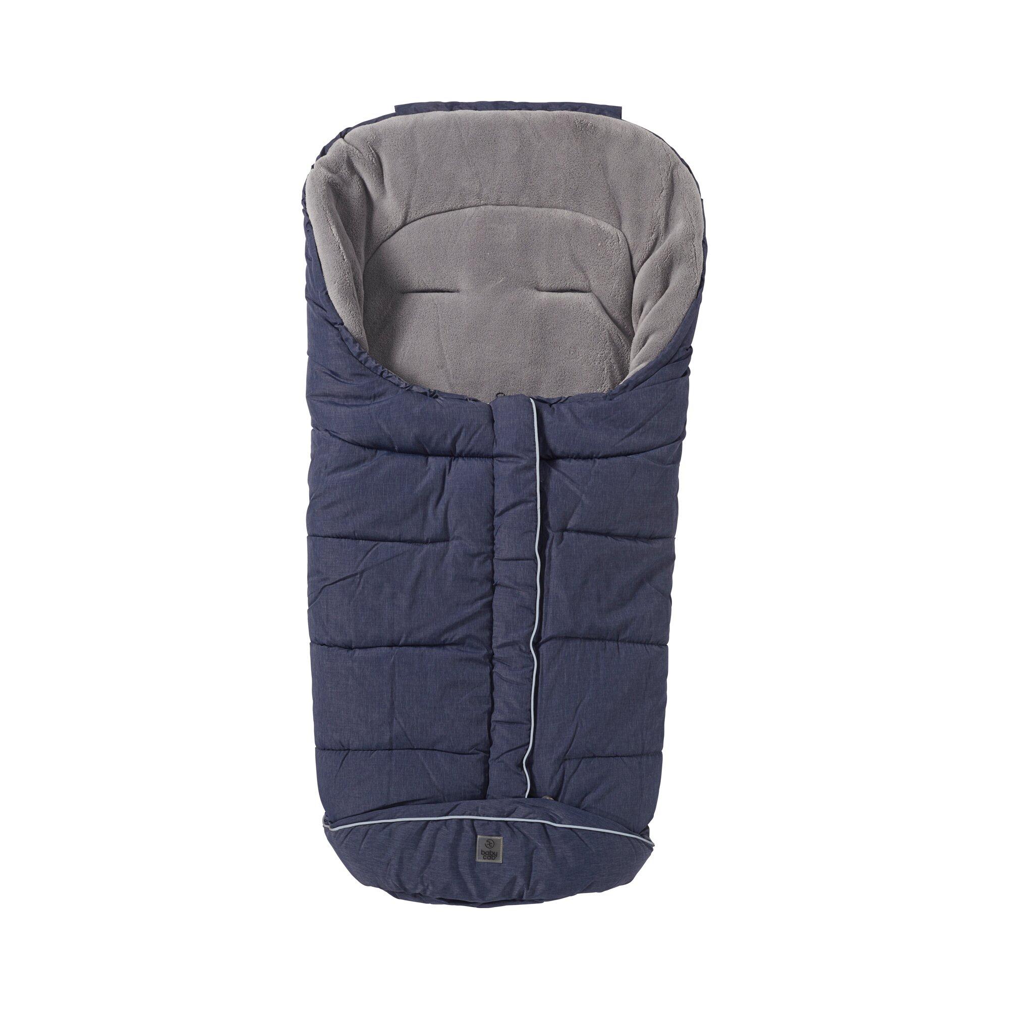 Babycab Winter-Fußsack Pongee für Babyschale, Tragewanne blau