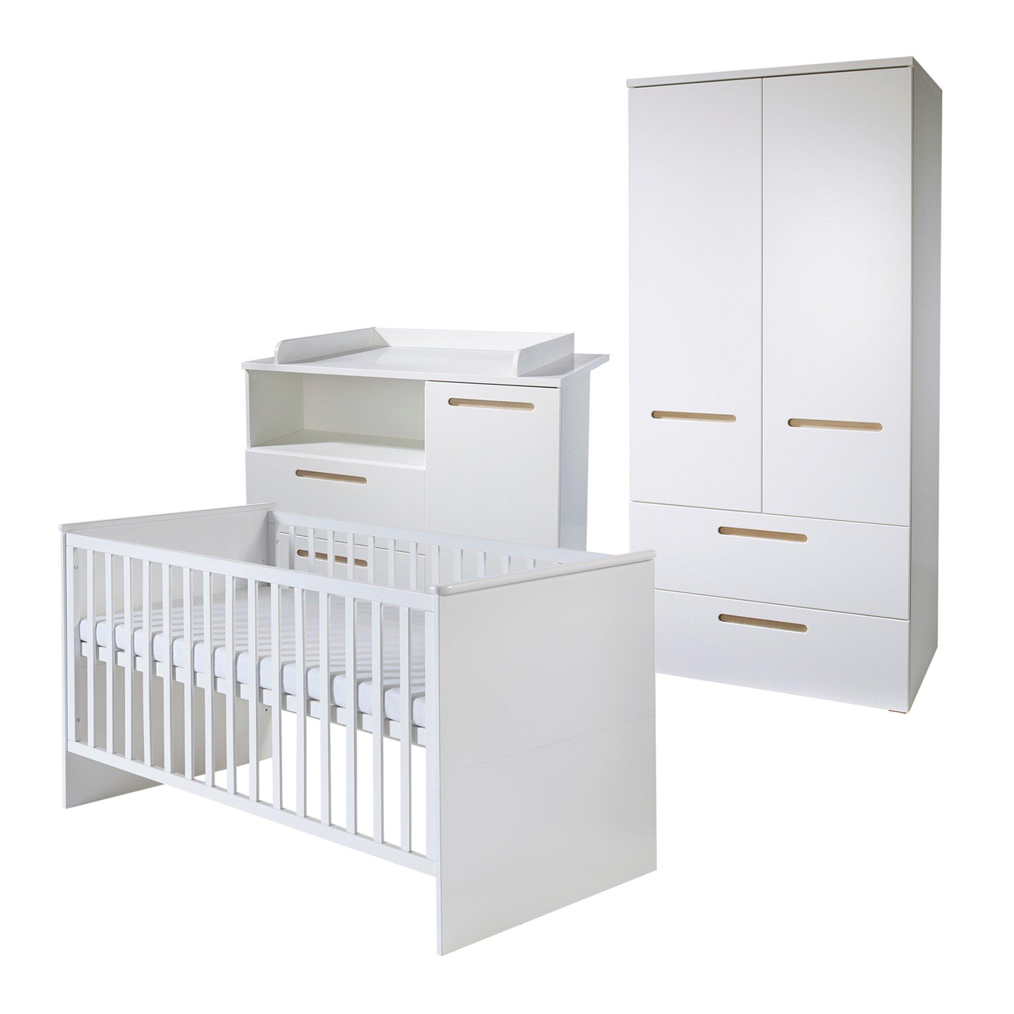 Roba Kinderzimmer-Set CAMBINO CITY (Bett, Wickelkommode, Schrank 2trg.)