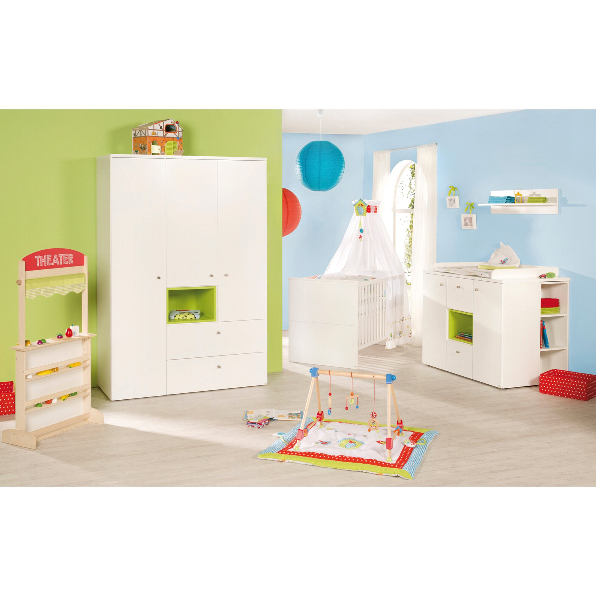 roba kinderzimmer set boxx bett wickelkommode schrank 3 t rig preisvergleich network. Black Bedroom Furniture Sets. Home Design Ideas