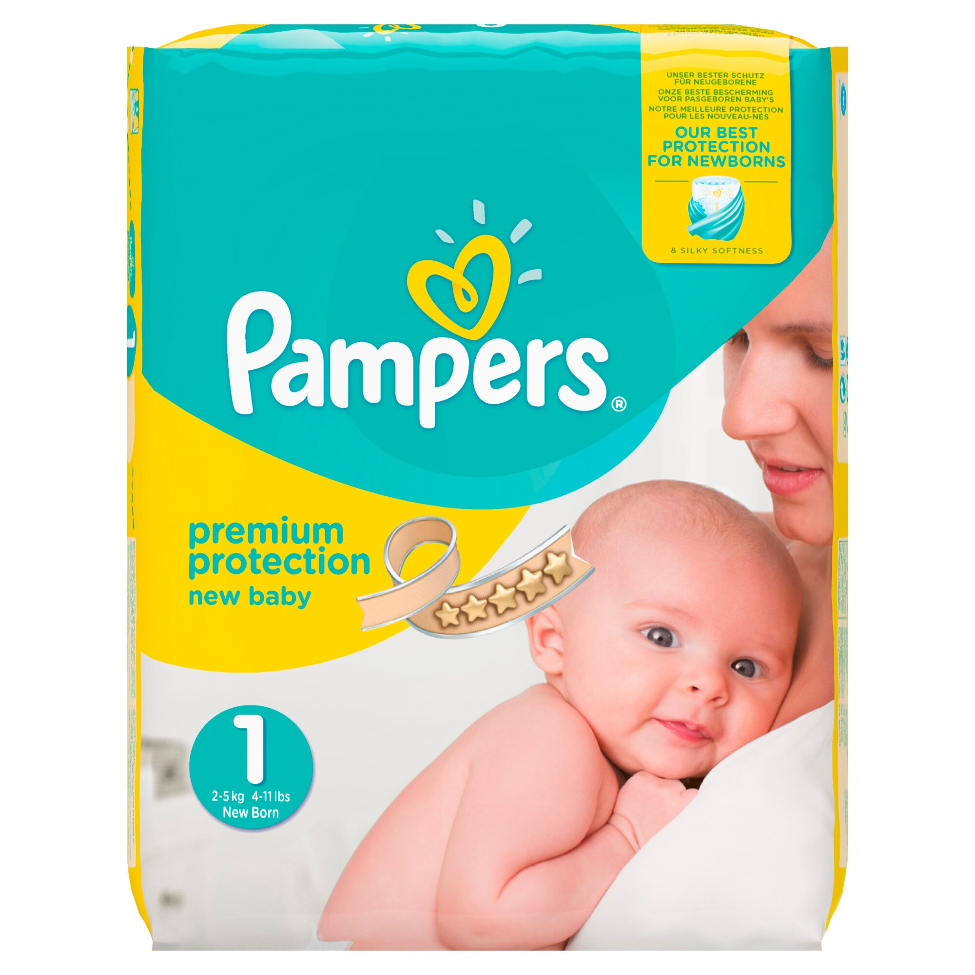 Pampers Premium Protection Windeln Gr. 1 2-5 kg Halbmonatsbox 96 St.