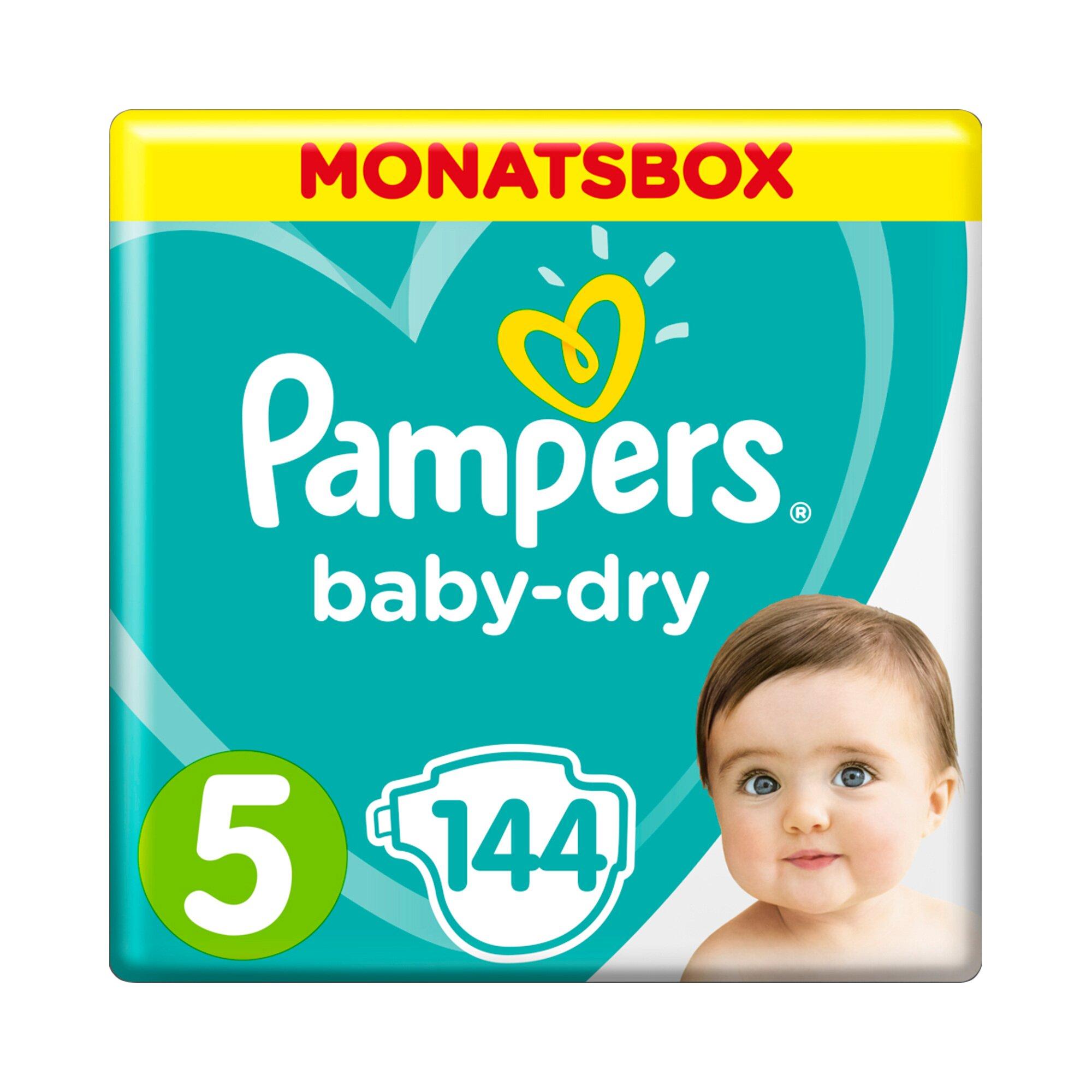 Pampers Baby Dry Windeln Gr. 5 11-16 kg Monatsbox 144 St.