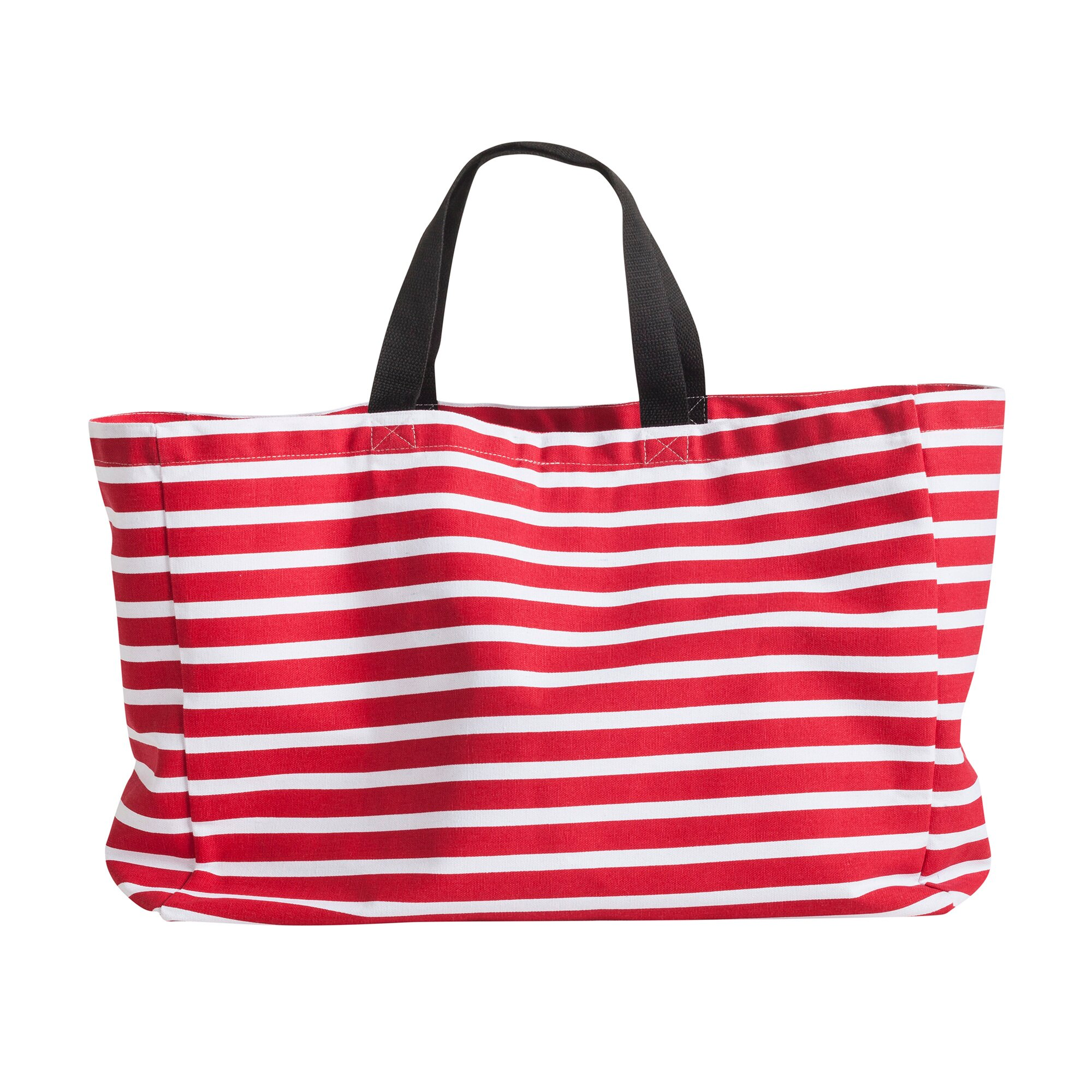 Strandtasche Streifen rot