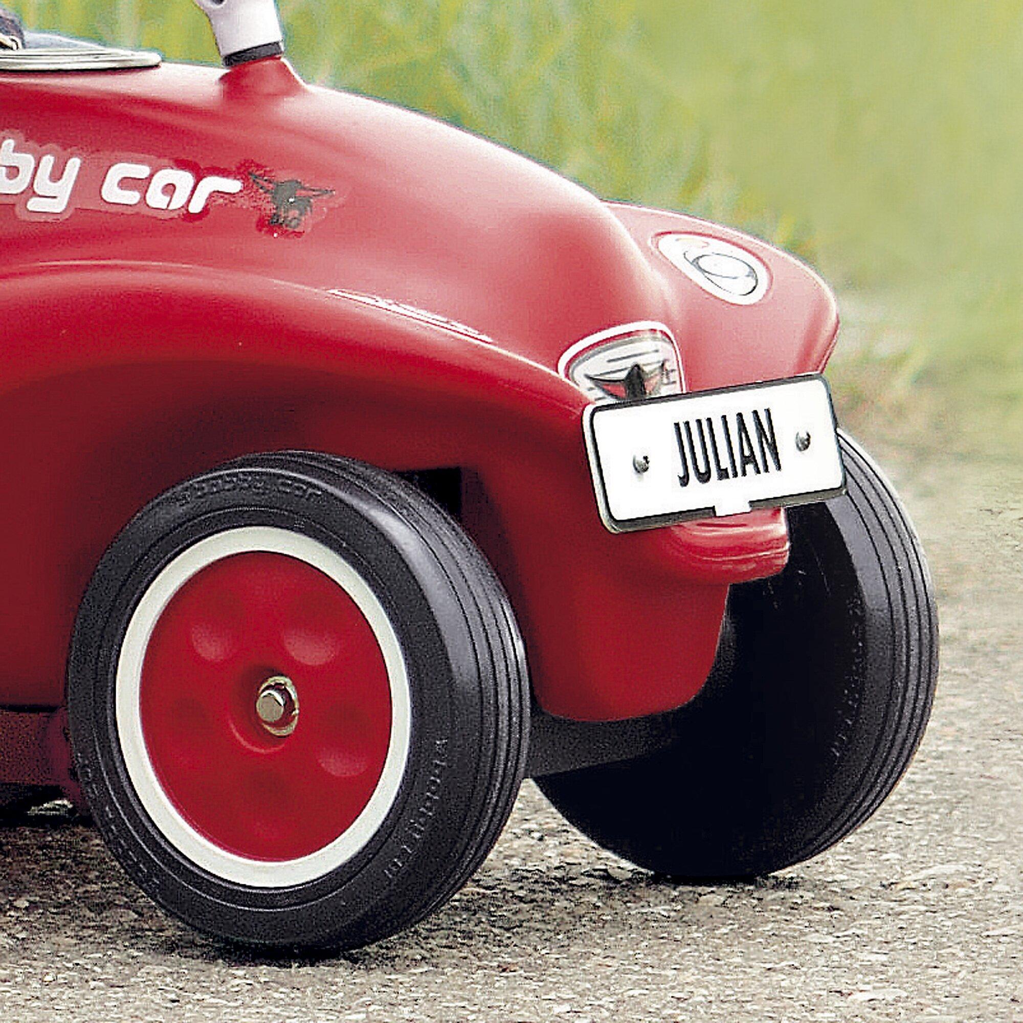 eduplay-bobby-car-nummernschild-weiss