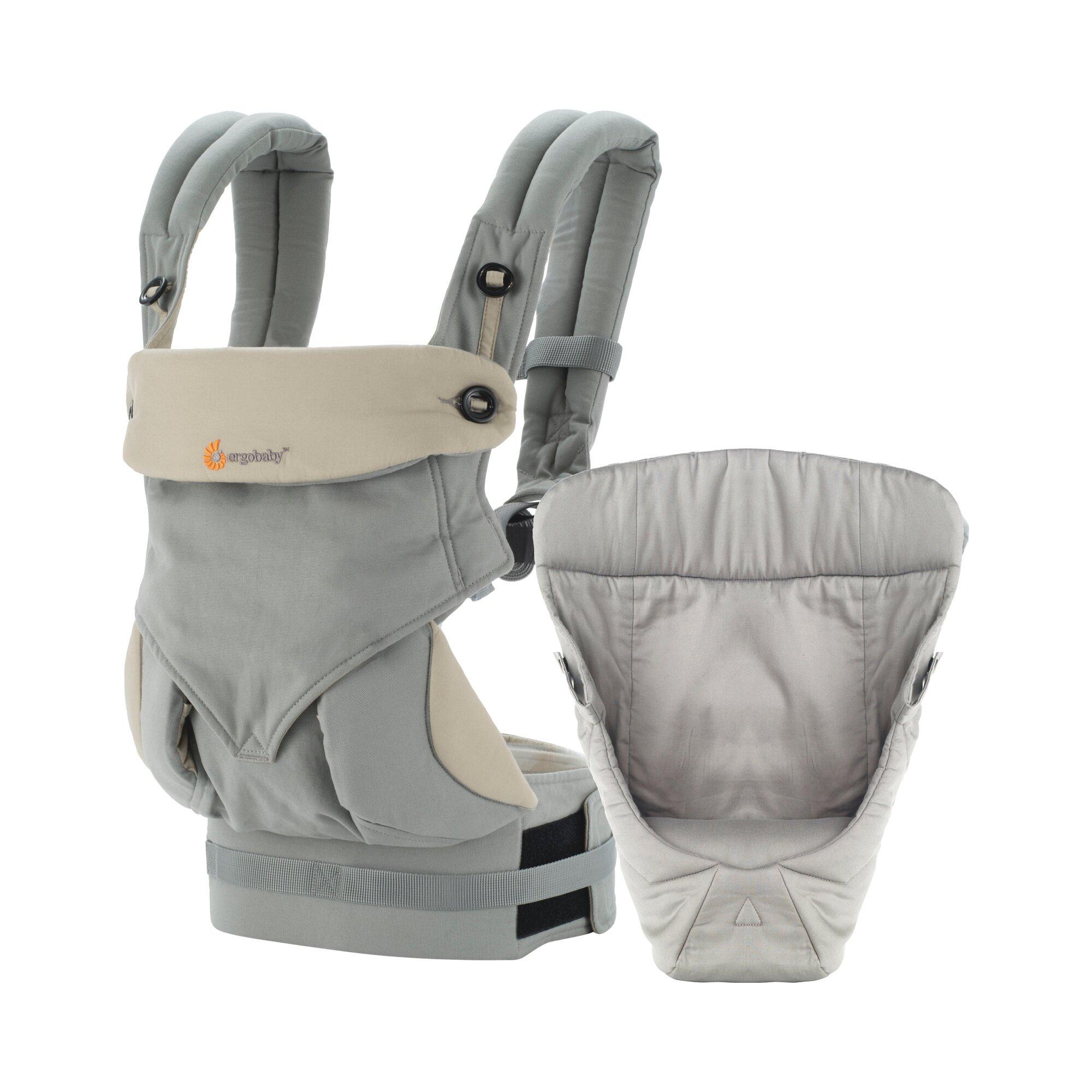 Ergobaby® Babytrage-Set 4 Tragepositionen 360 von-Geburt-an-Paket grau