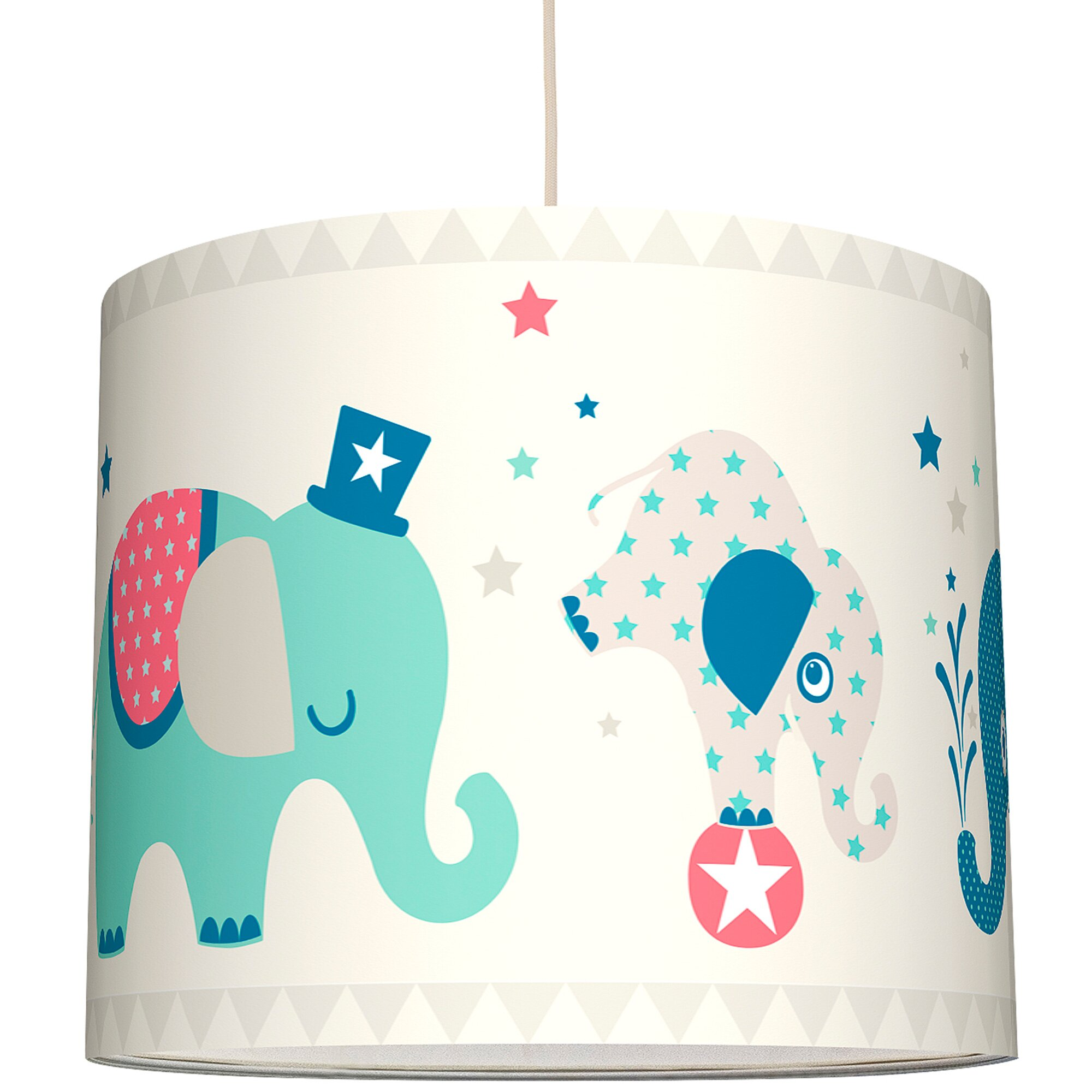 Anna Wand Lampenschirm Elefanten Boys ø 40 cm