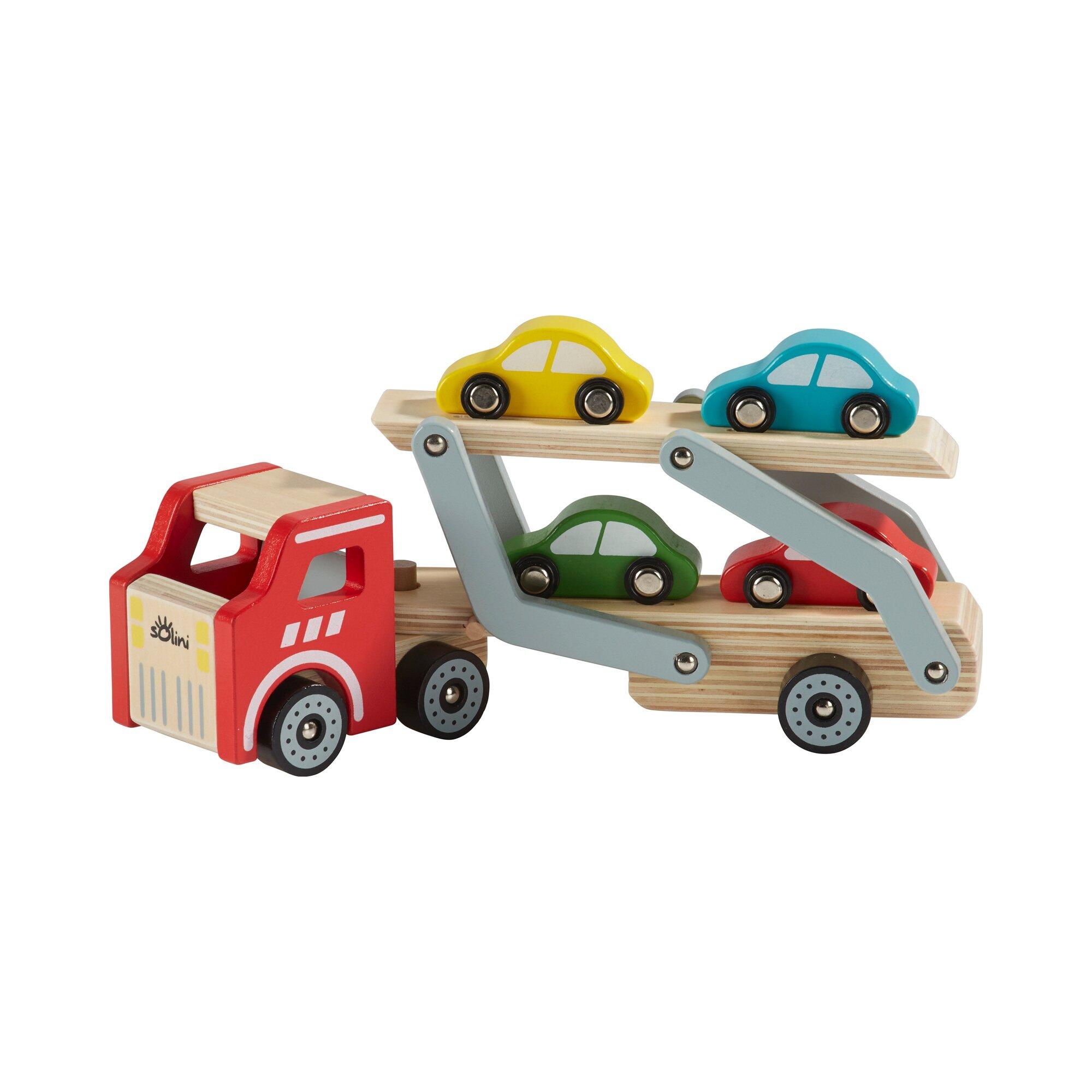 Solini Autotransporter aus Holz