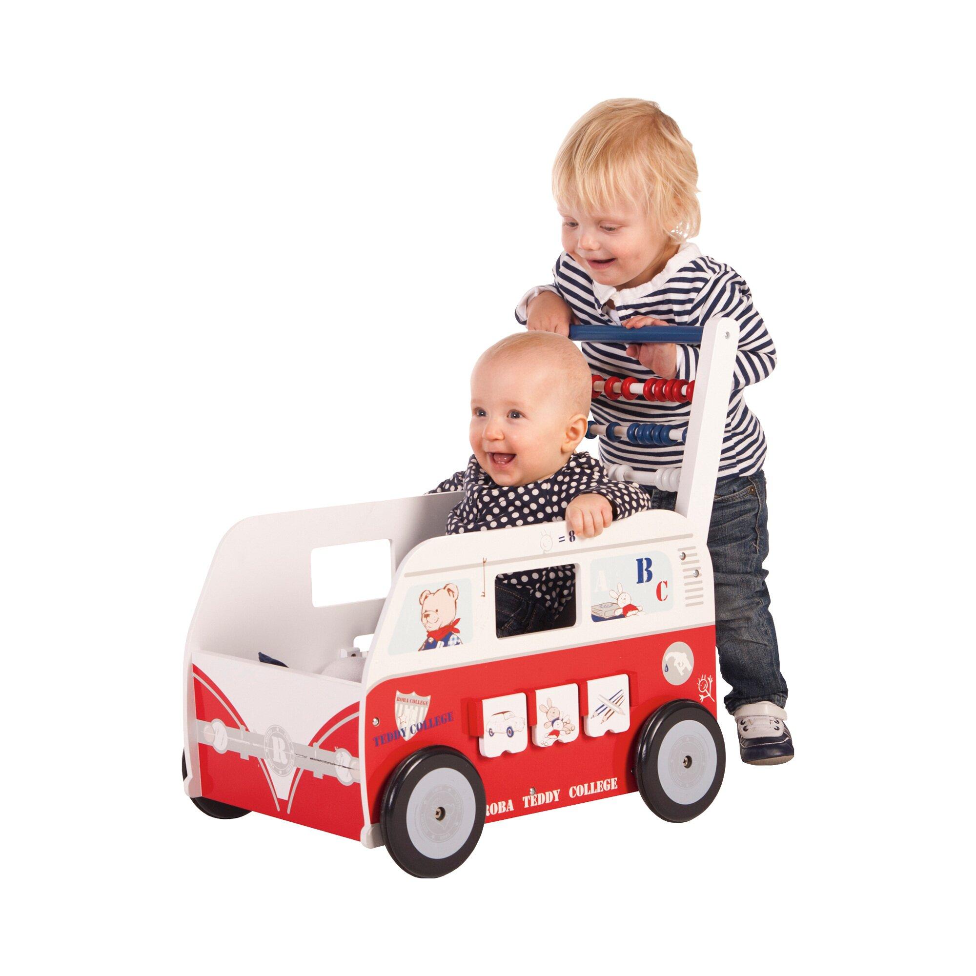 roba-lauflernwagen-teddybus-teddy-college, 50.99 EUR @ babywalz-de