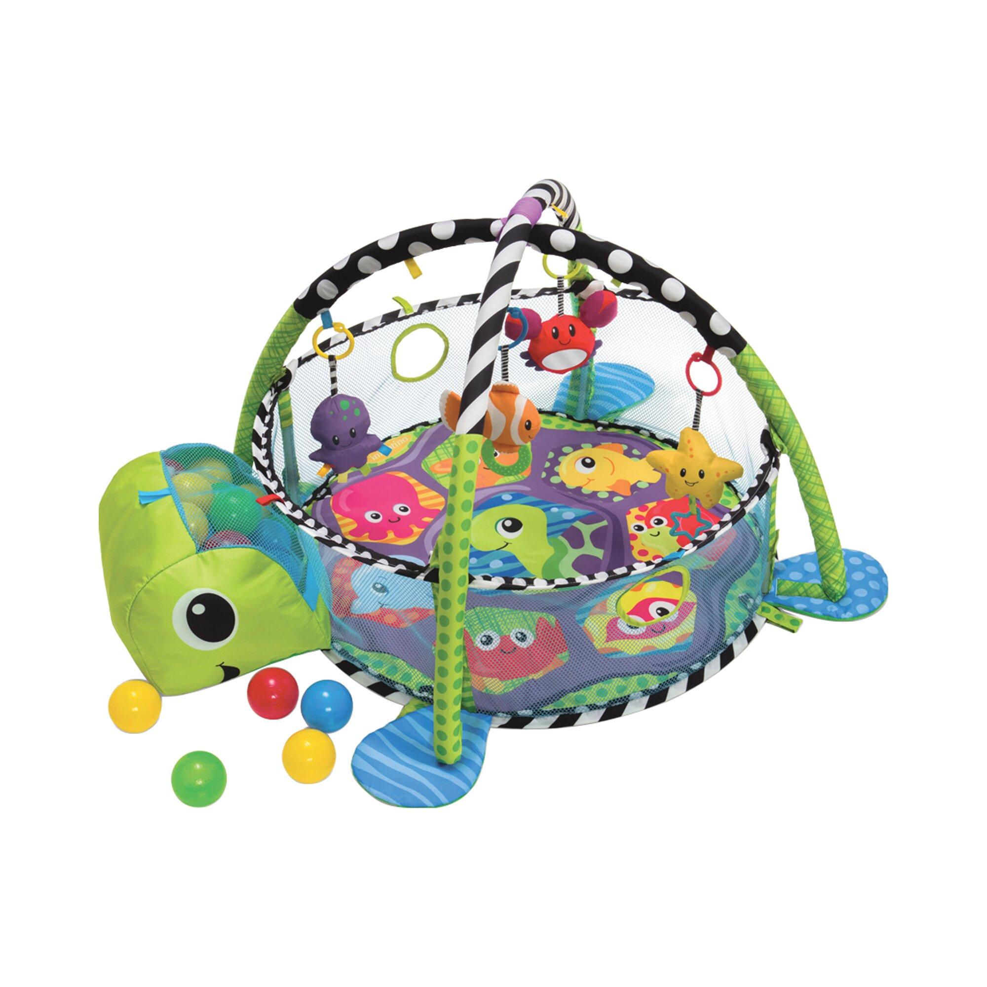 Babydecke mit Spielbogen & Bällebad Schildkröte
