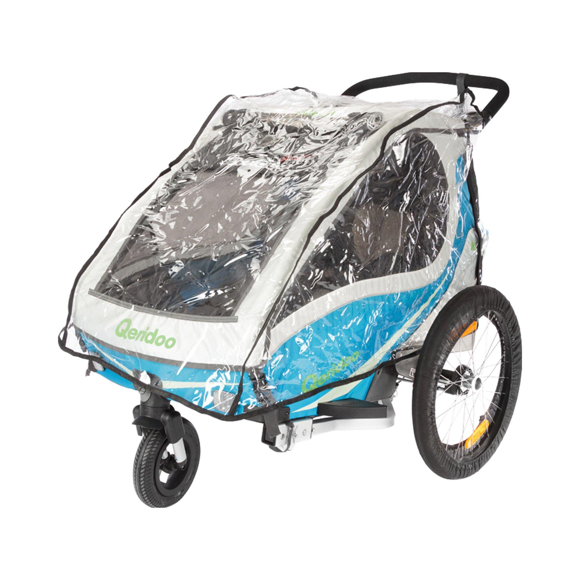 Qeridoo Regenschutz für Kinderfahrradanhänger Kidgoo2 und Kidgoo2 Sport