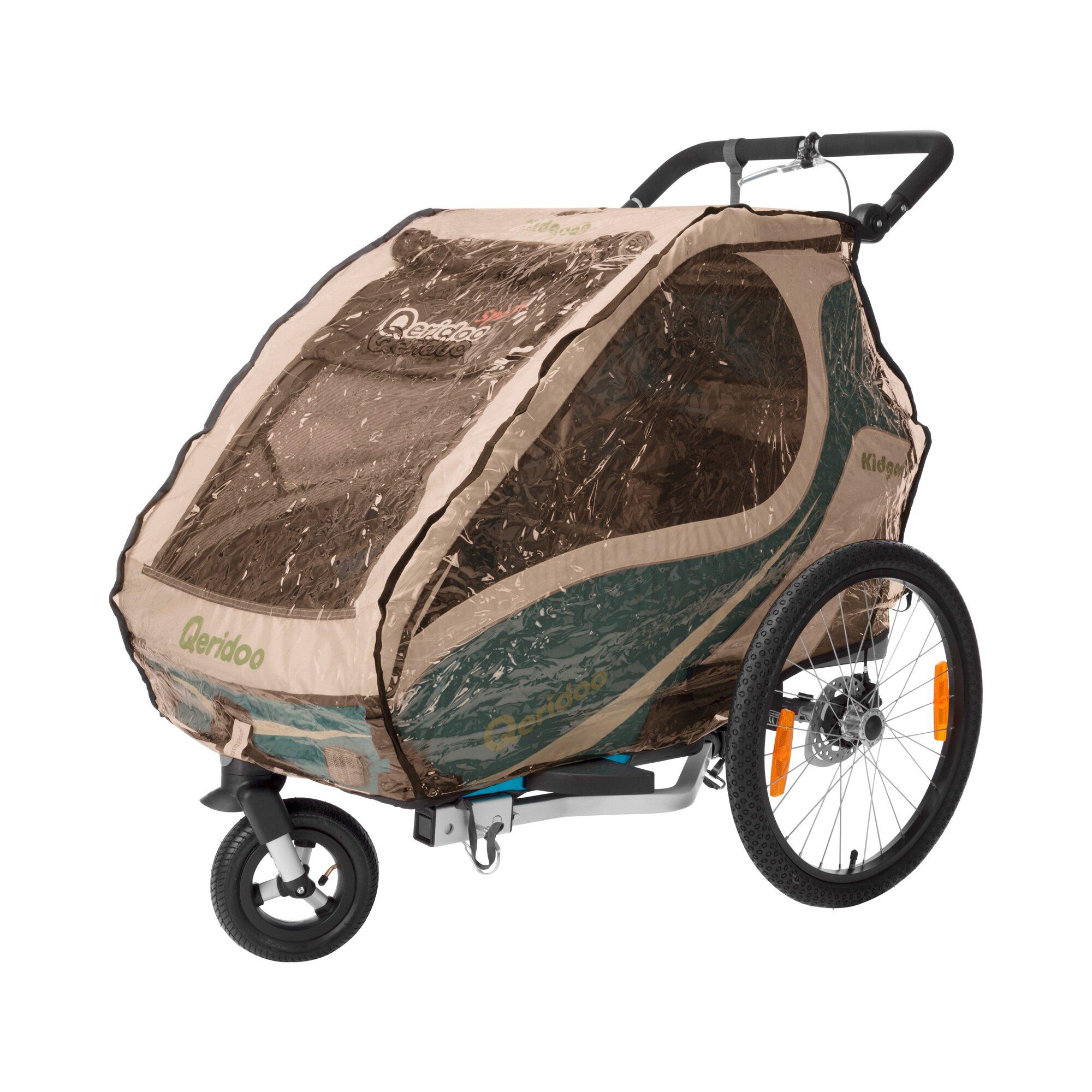 Qeridoo Regenschutz für Kinderfahrradanhänger Kidgoo1