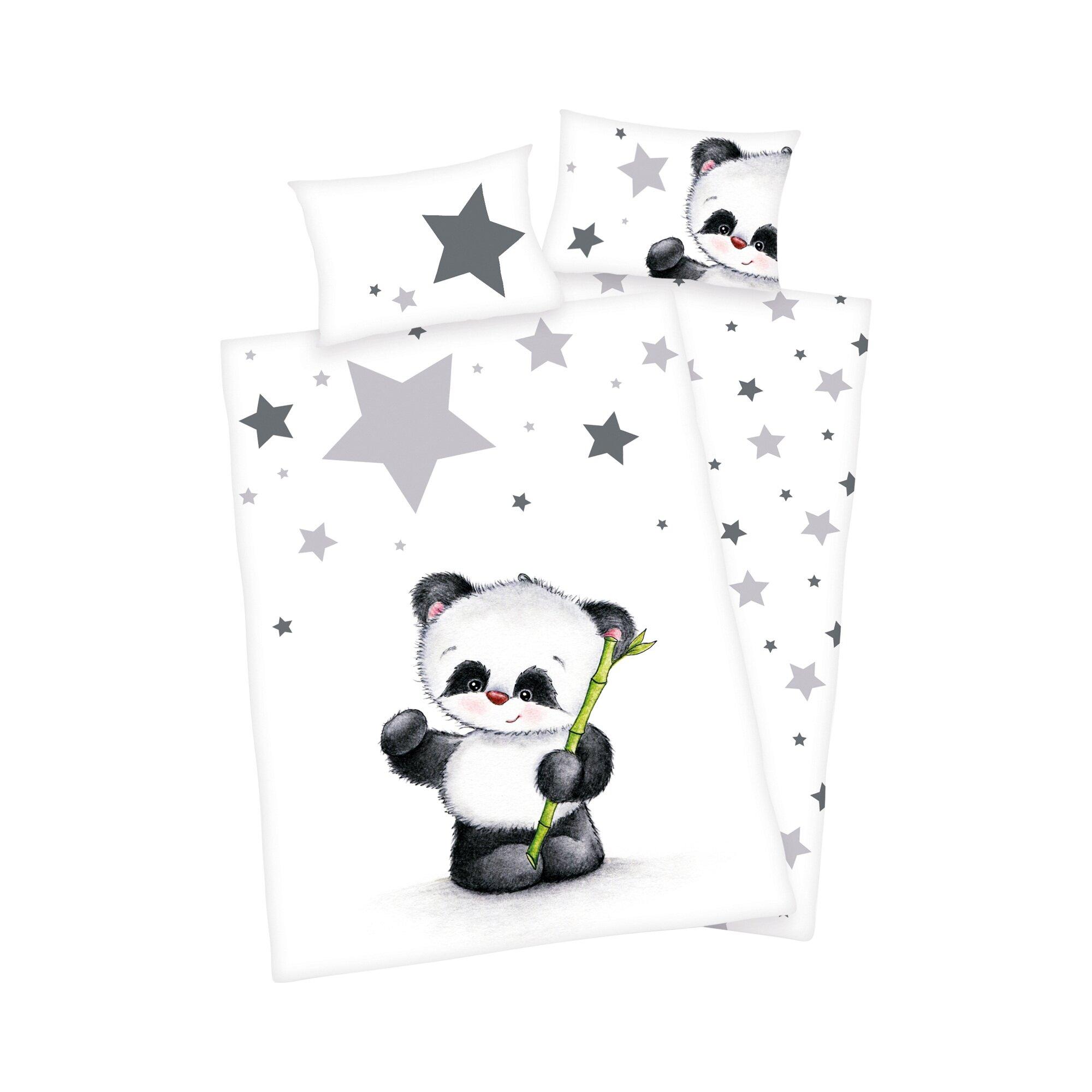 Herding Bettwäsche Panda 40x60 / 100x135 cm mehrfarbig