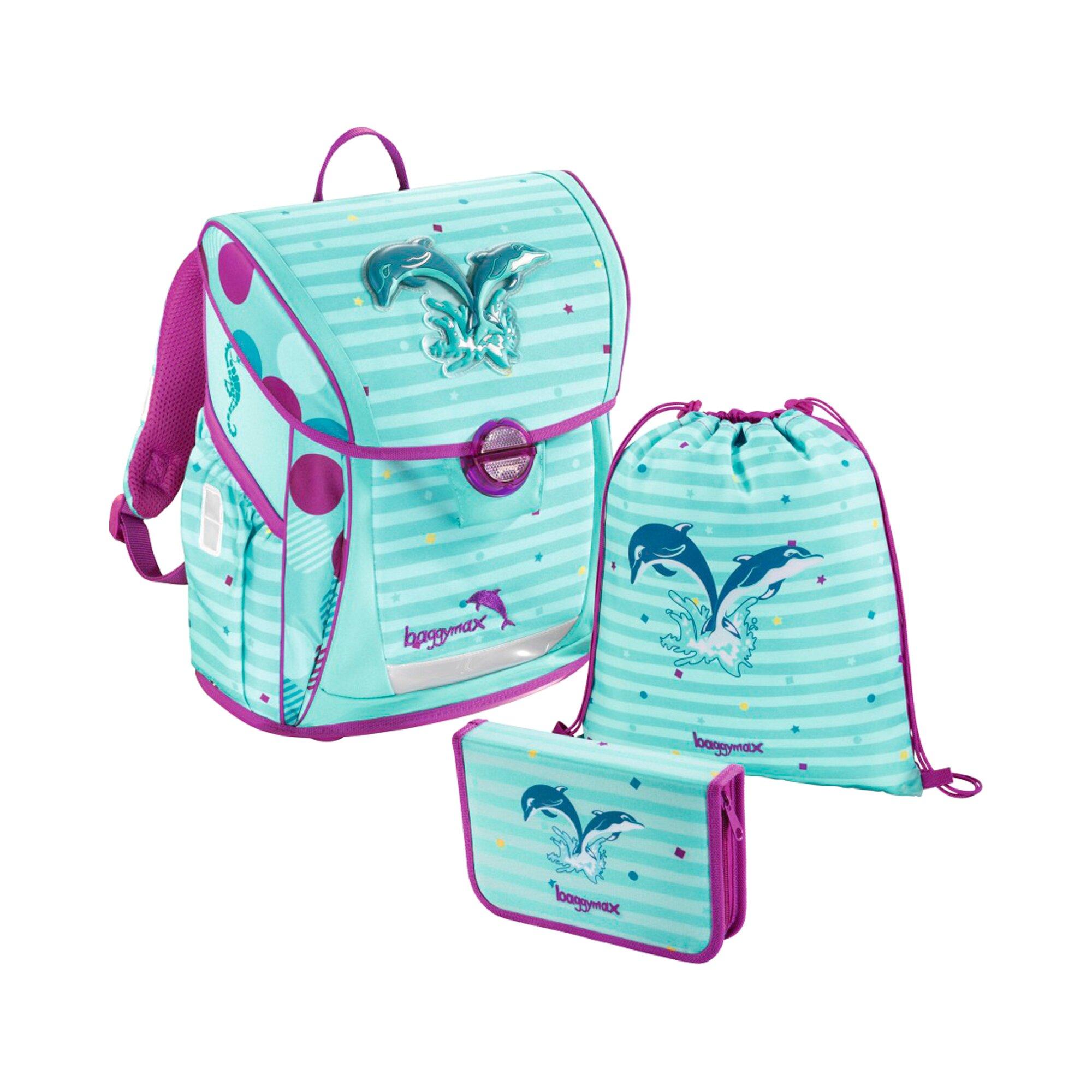 Baggymax Schulranzen-Set Fabby Dolphin 3-teilig