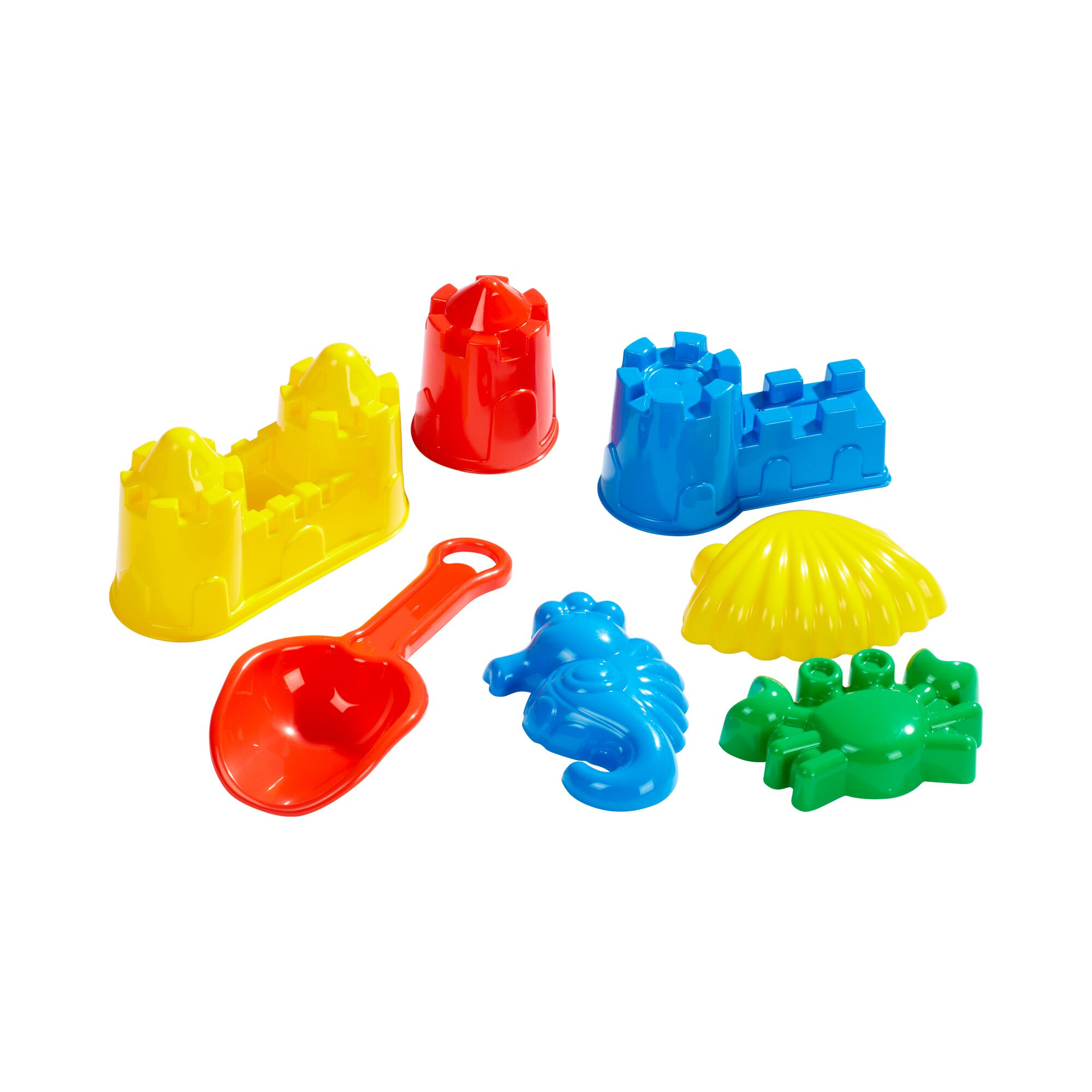Solini 7-tlg. Sandspielzeug-Set Burgformen