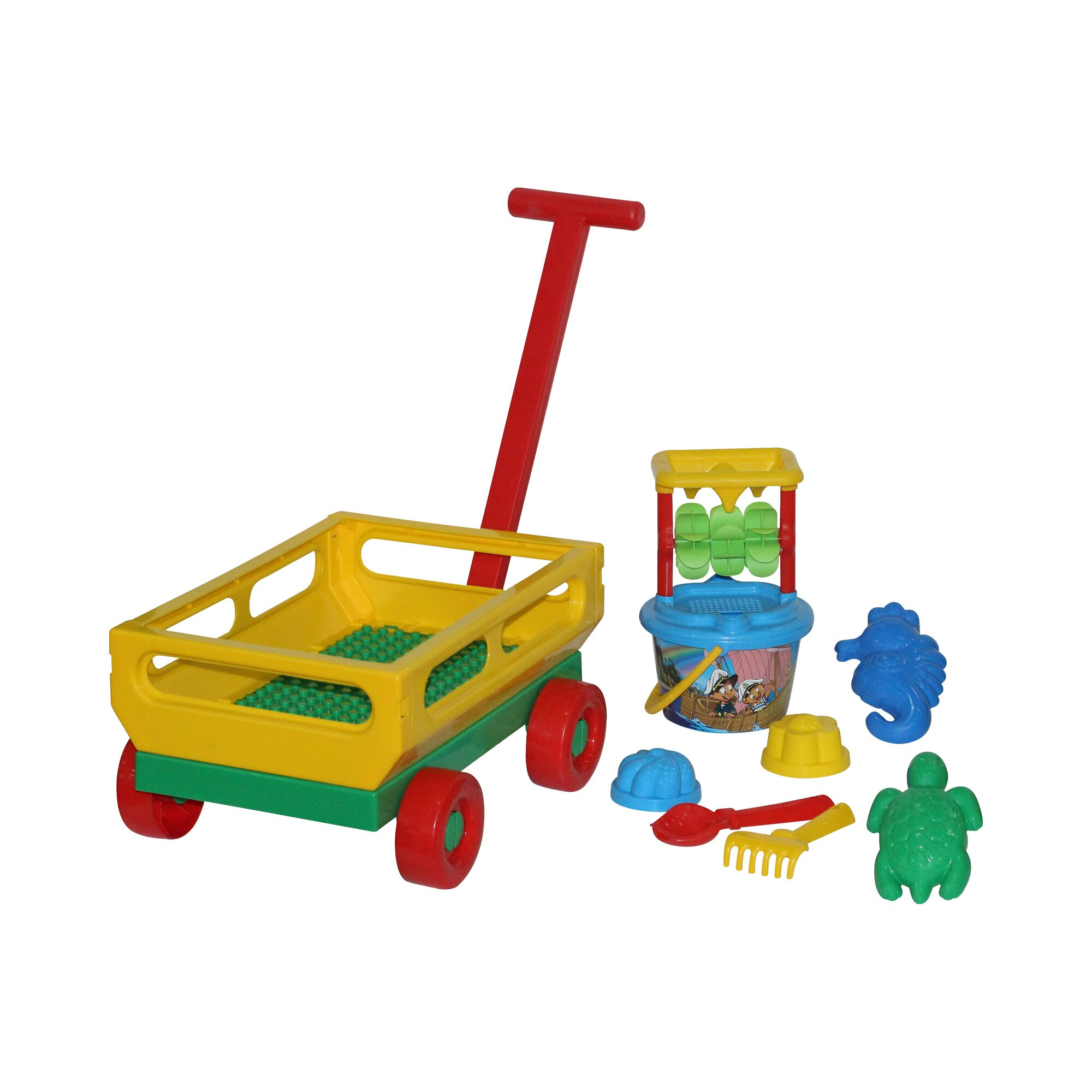 solini-10-tlg-sandspielzeug-set-handwagen