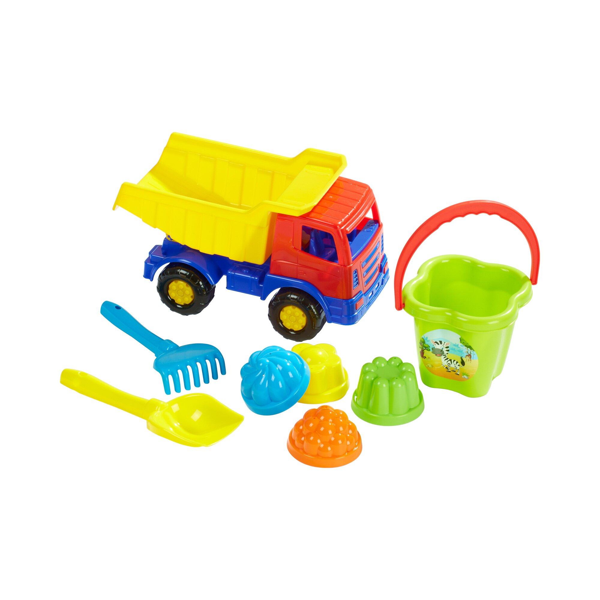 Solini 8-tlg. Sandspielzeug-Set mit Kipper