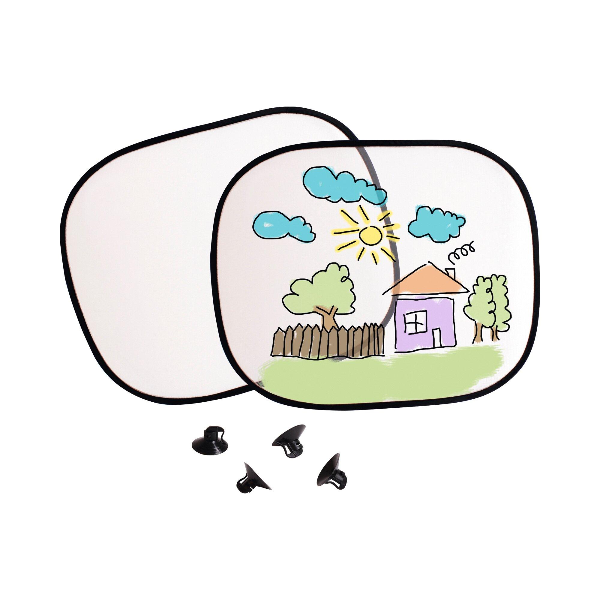 Beleduc Sonnenschutz zum Selbstgestalten, 2er Set weiss