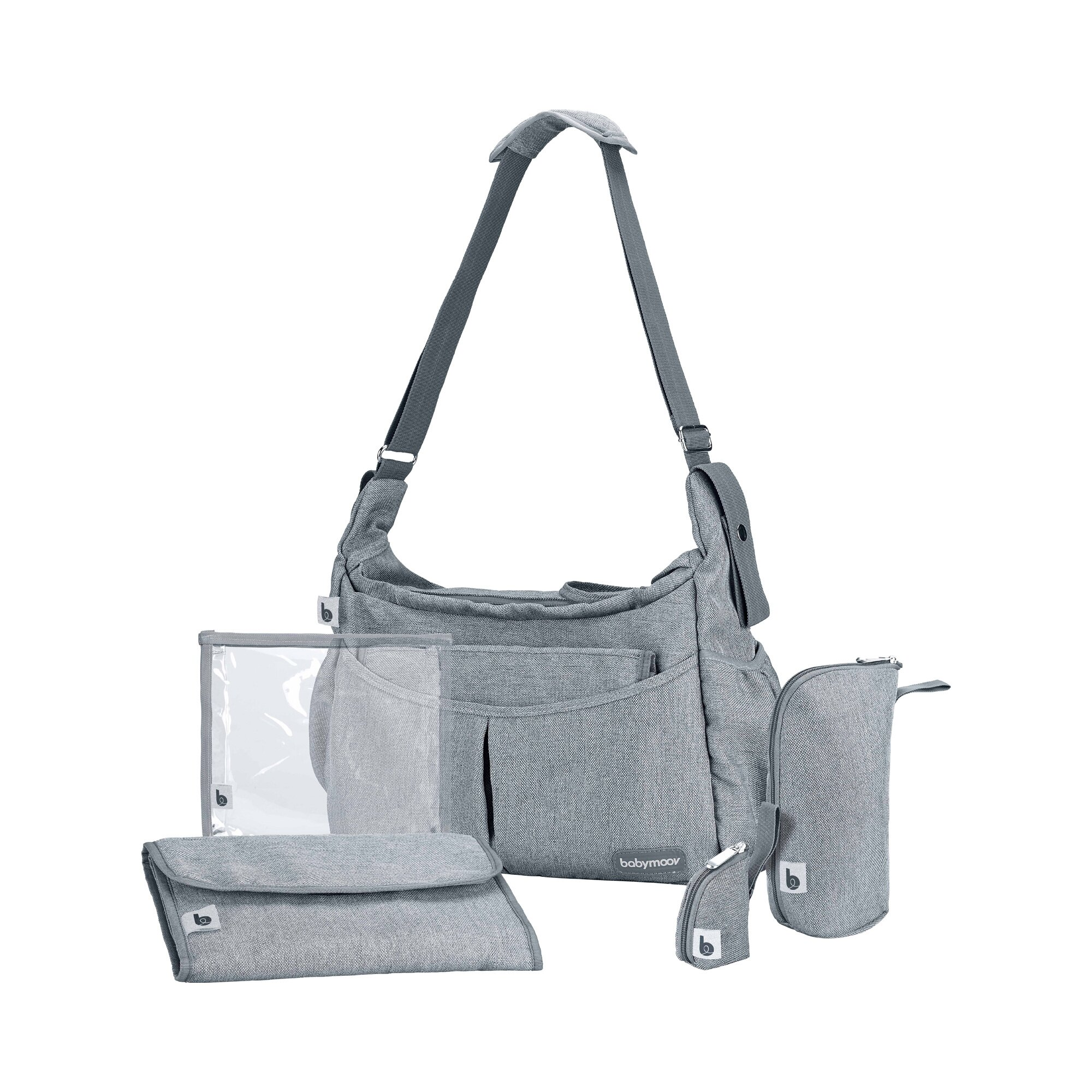 Babymoov Wickeltasche Urban Bag Smokey grau