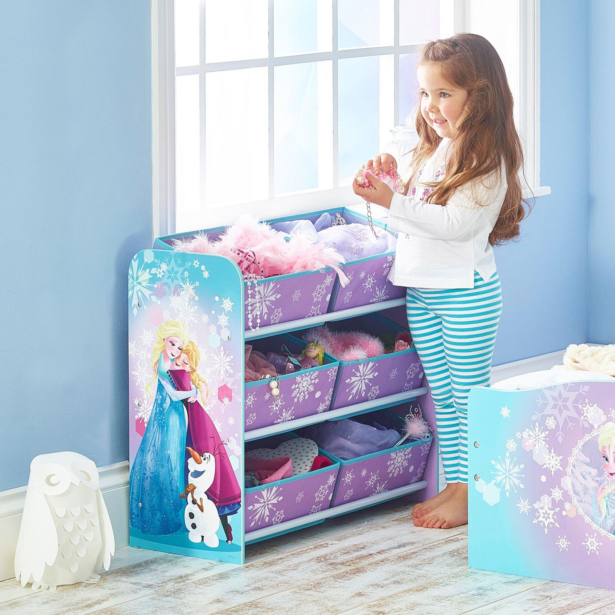 Disney Frozen Aufbewahrungsregal + 6 Boxen
